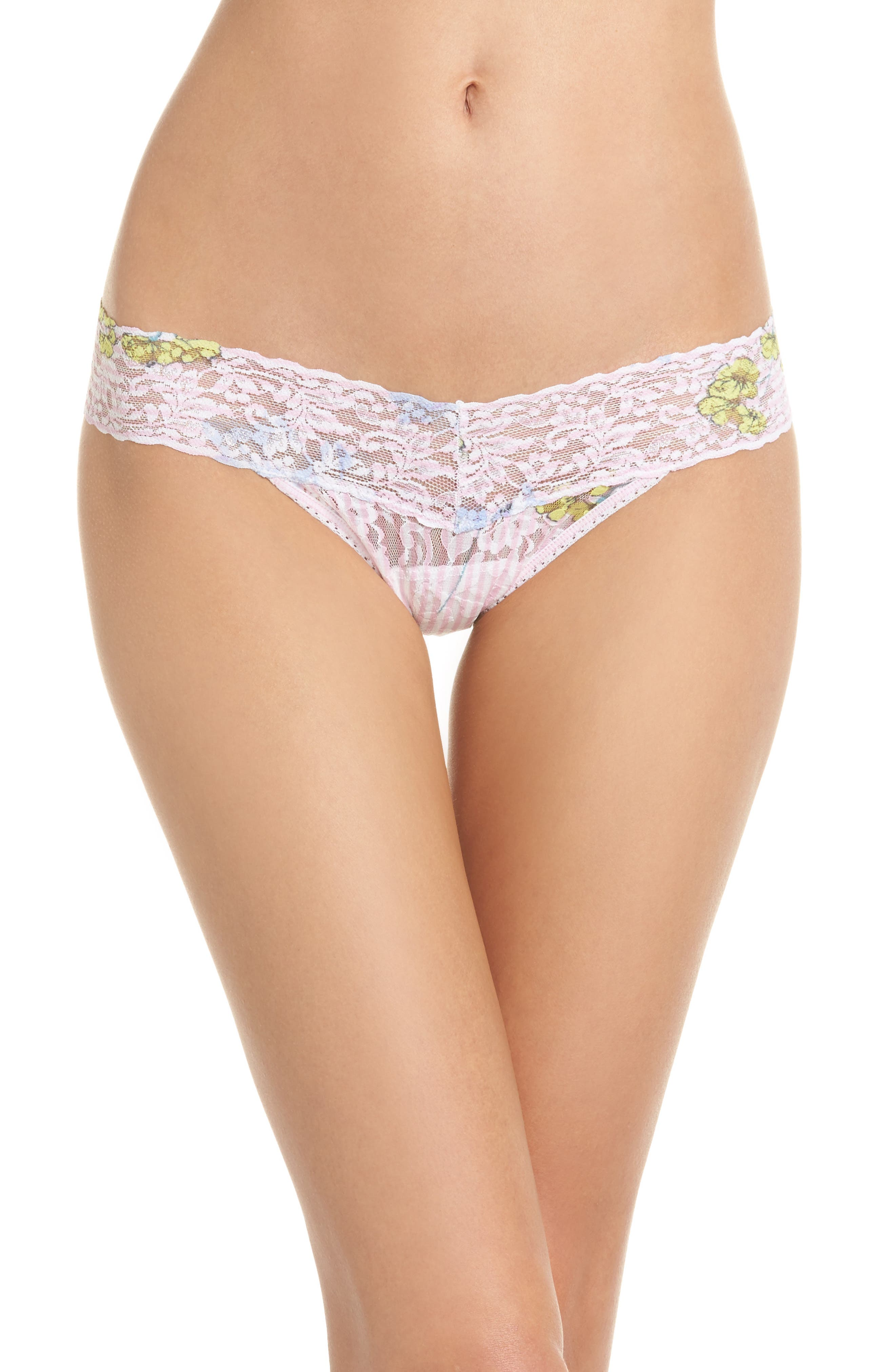 Print Low Rise Thong,                             Main thumbnail 15, color,