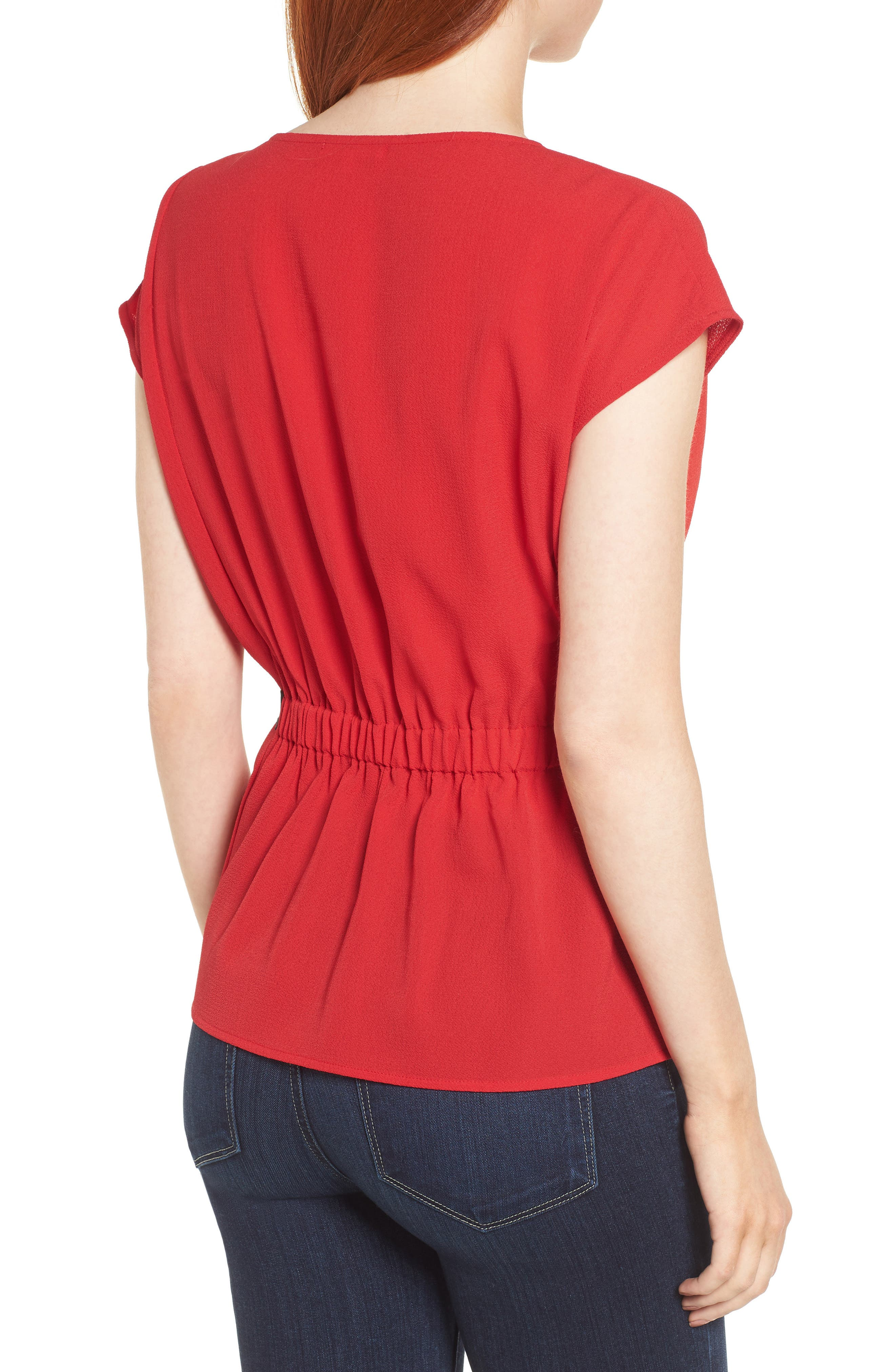 Gathered Waist Side Tie Top,                             Alternate thumbnail 12, color,