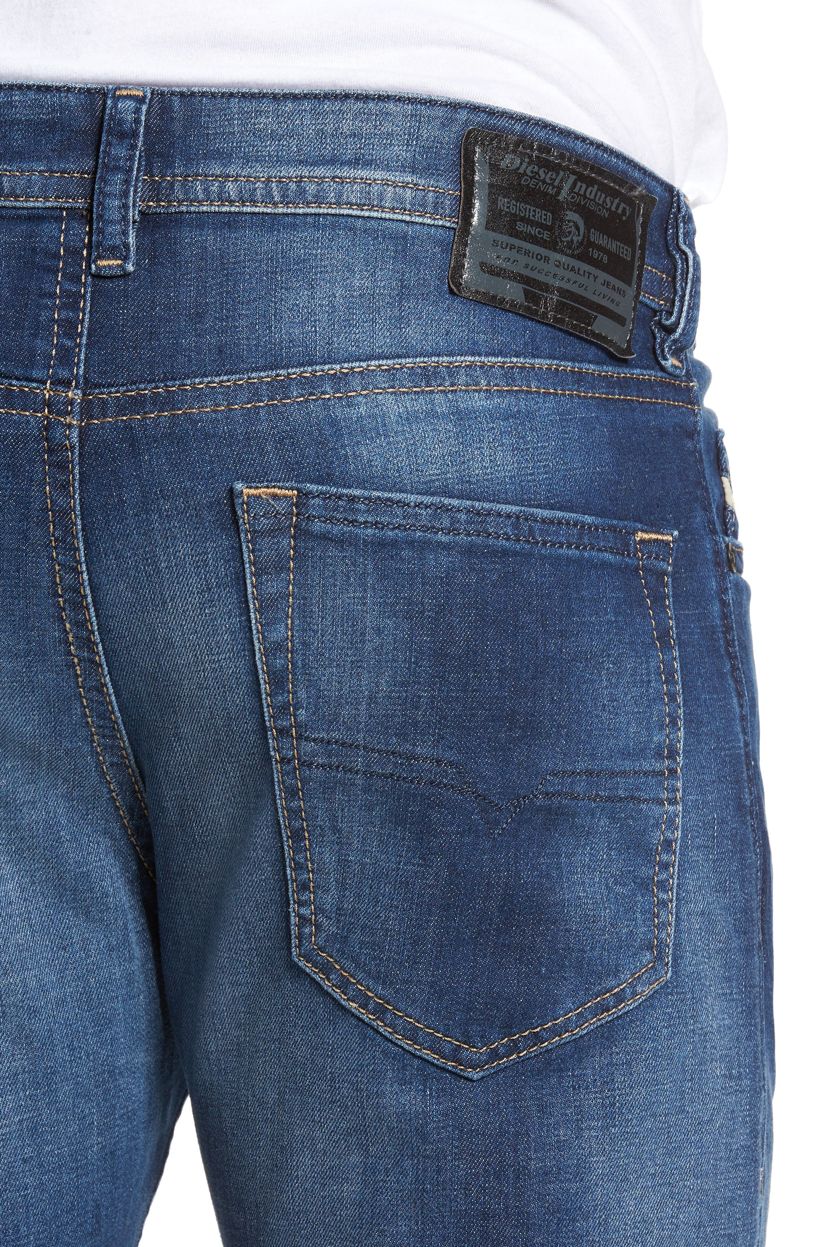Buster Slim Straight Leg Jeans,                             Alternate thumbnail 4, color,                             400