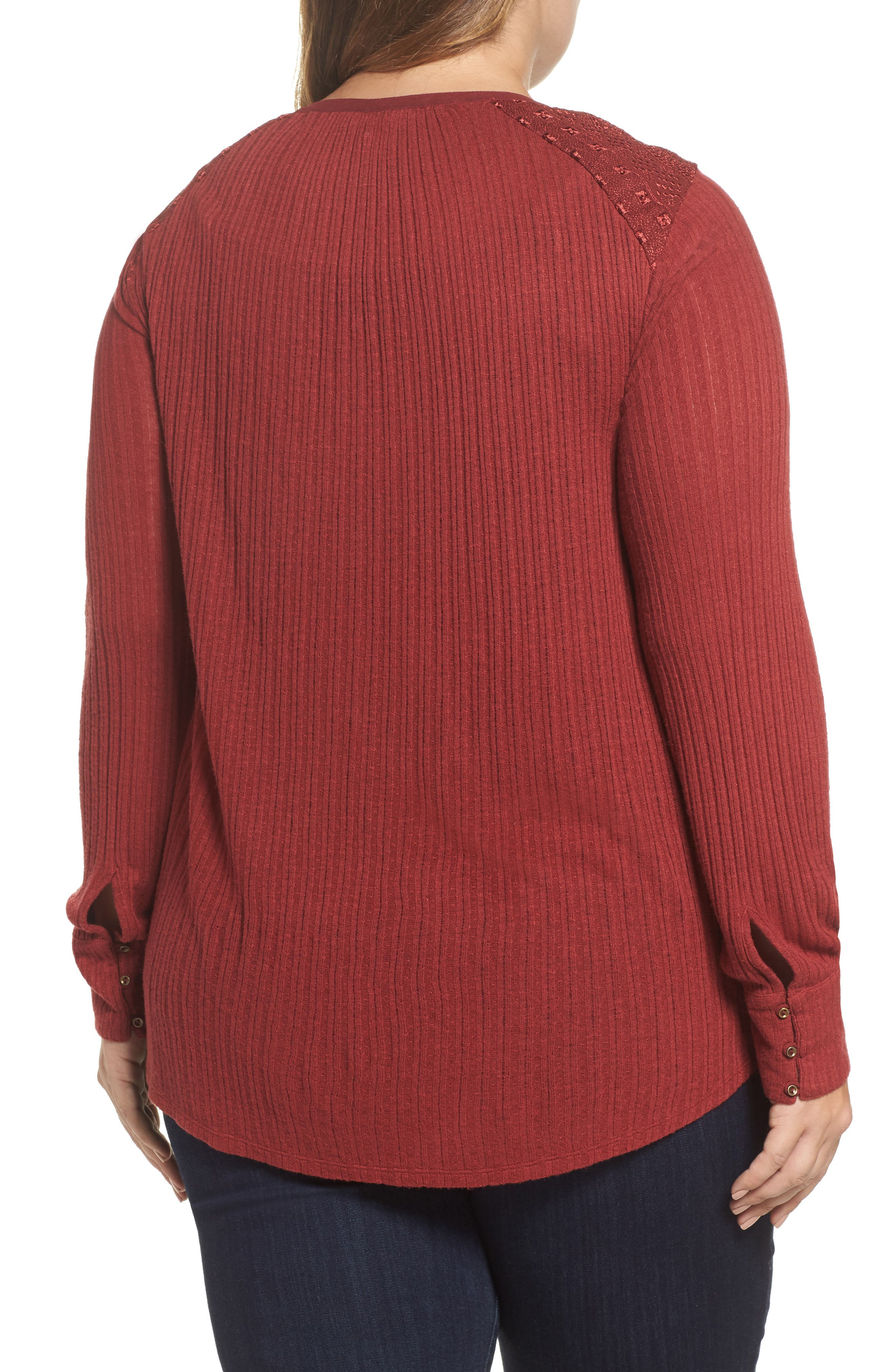 Drop Needle Ribbed Pullover,                             Alternate thumbnail 3, color,