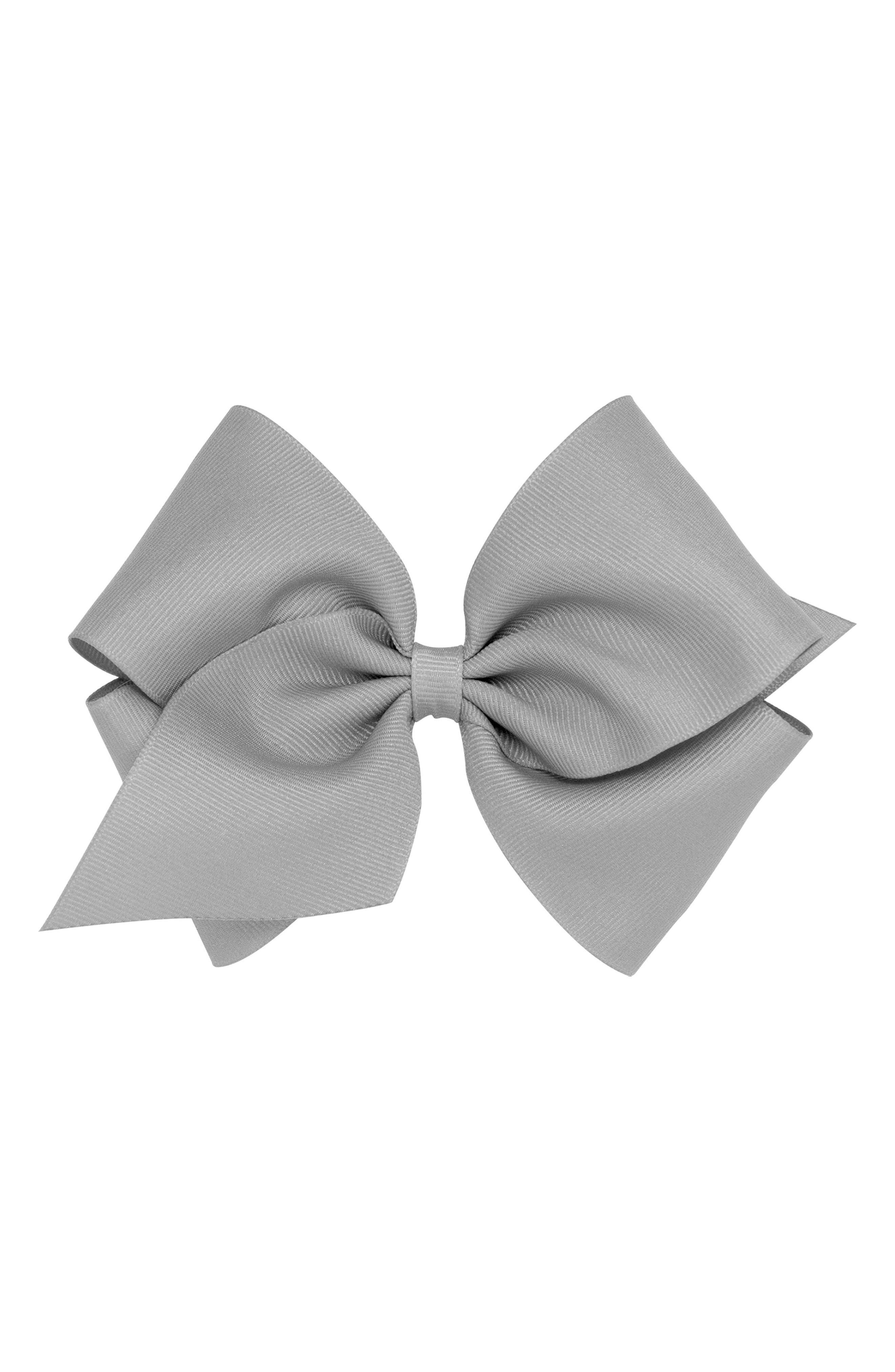 Grosgrain Bow Clip,                         Main,                         color, GREY