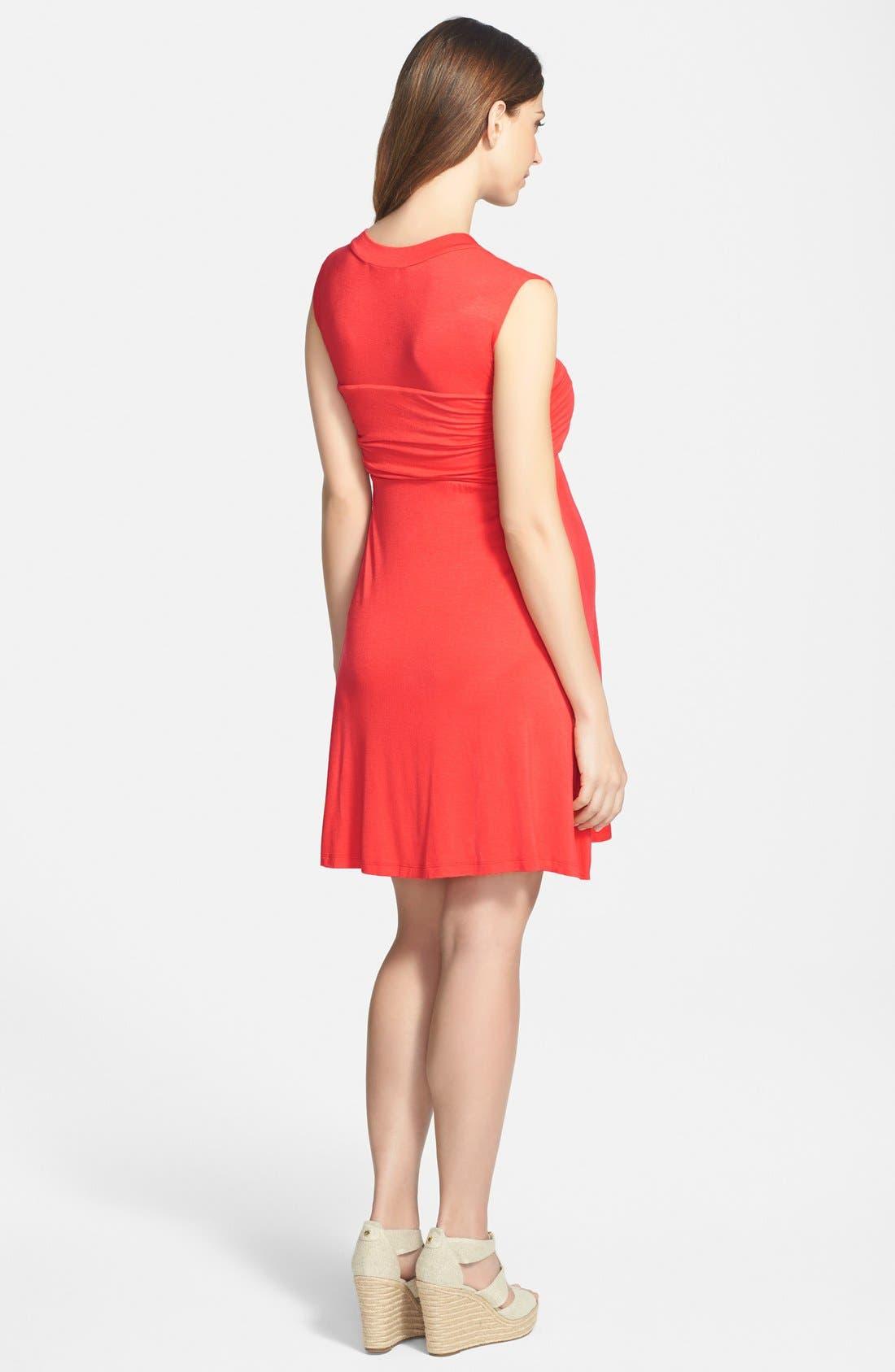 'Mini Sweetheart' Dress,                             Alternate thumbnail 3, color,                             ORANGE