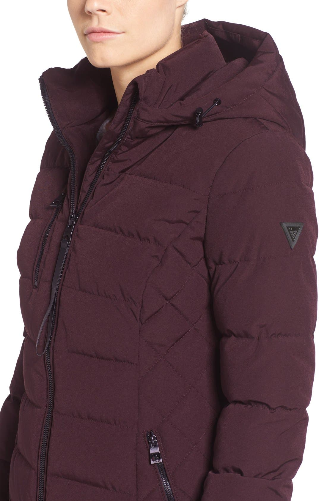 Quilted Hooded Puffer Coat,                             Alternate thumbnail 12, color,