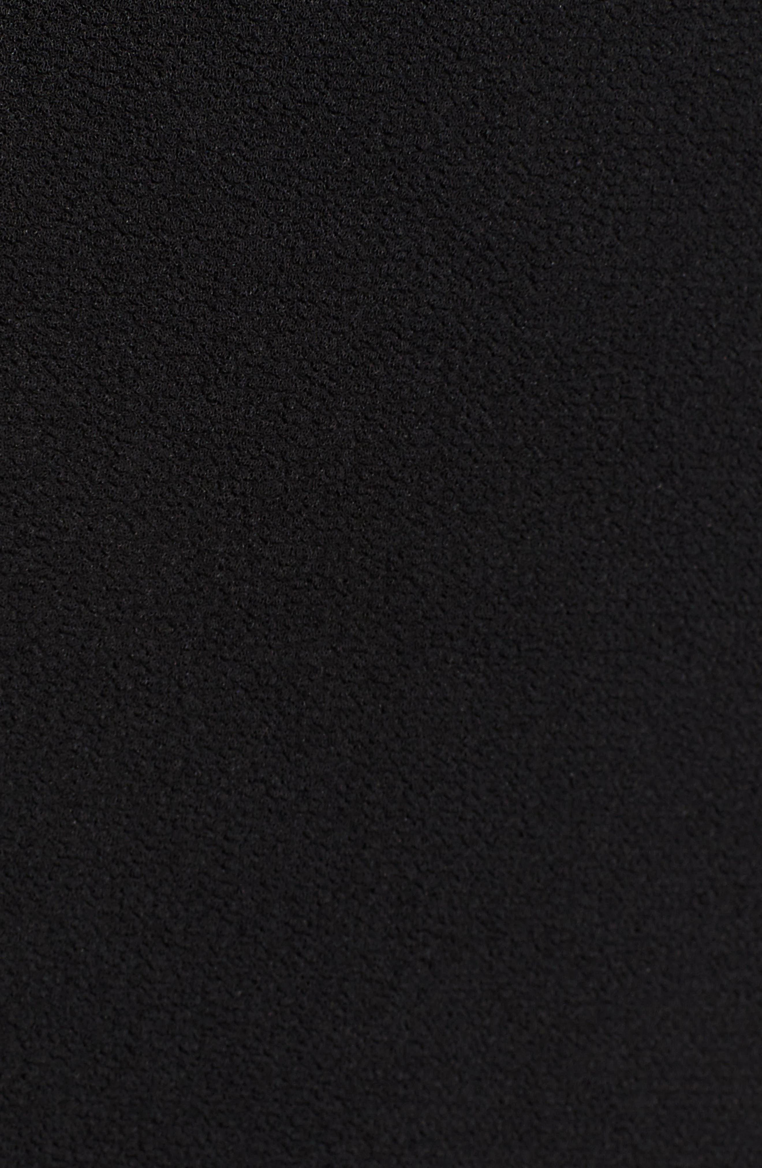 Ruffle Sweater Dress,                             Alternate thumbnail 6, color,                             BLACK/ WHITE