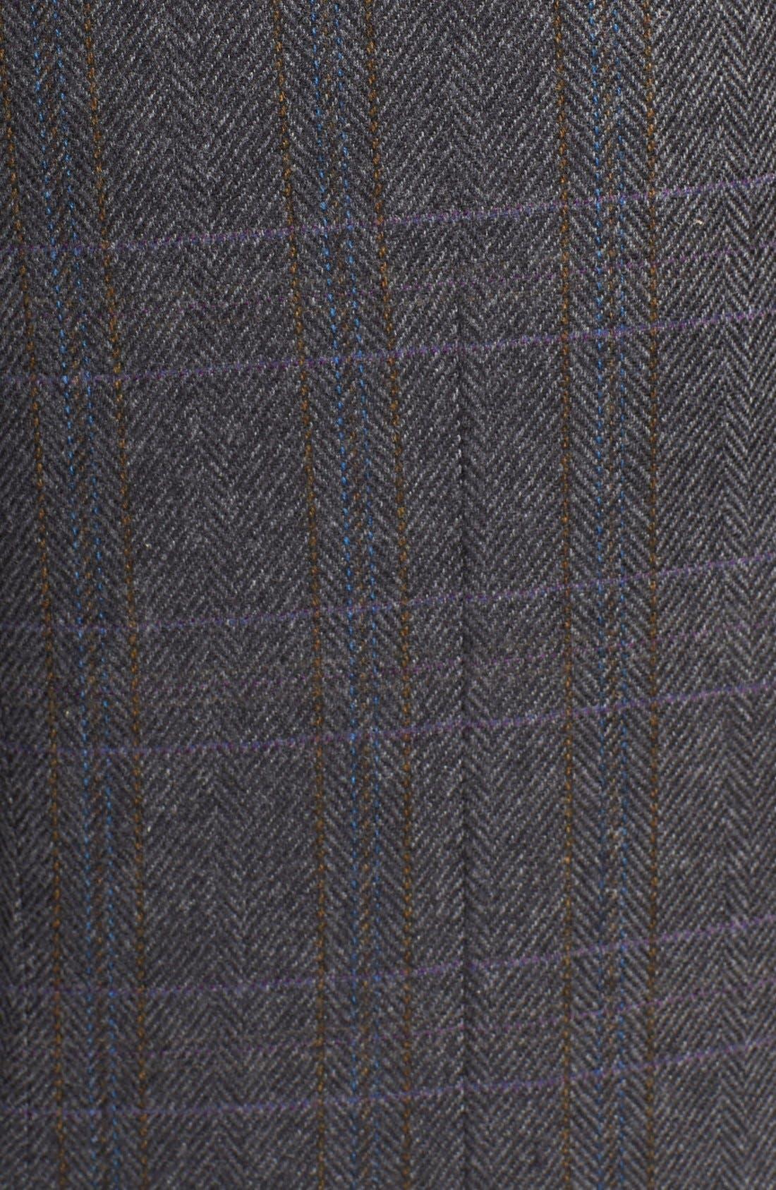 'Clareinch' Herringbone Plaid Sport Coat,                             Alternate thumbnail 7, color,