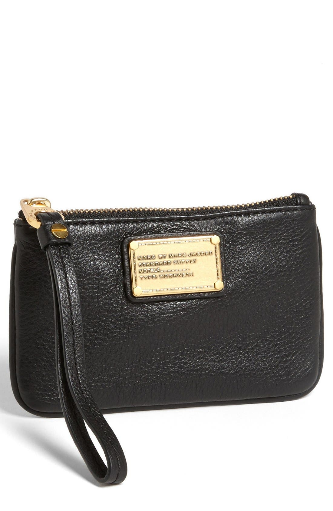 "MARC BY MARC JACOBS 'Small Classic Q"" Wristlet,                             Main thumbnail 1, color,                             001"