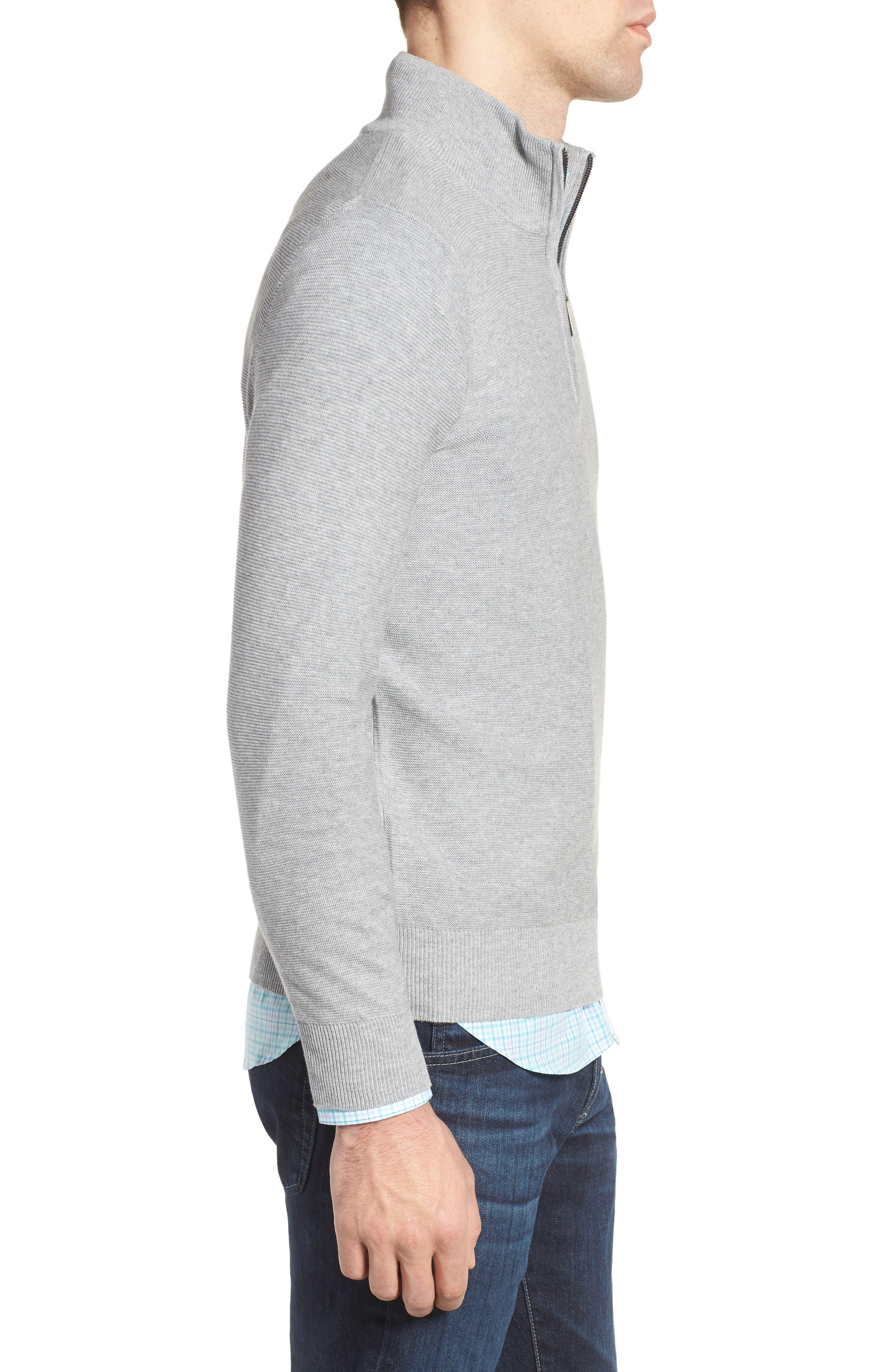 Quarter Zip Sweater,                             Alternate thumbnail 3, color,                             051