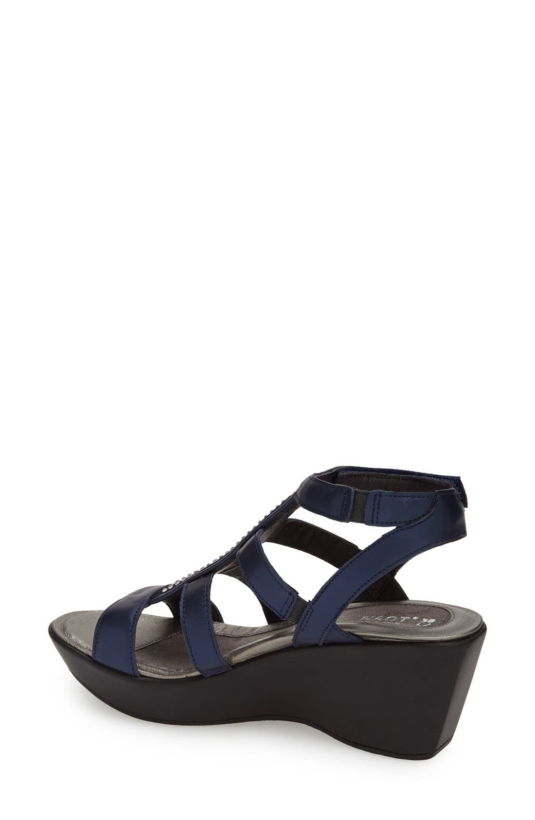 'Mystery' Platform Wedge Sandal,                             Alternate thumbnail 18, color,