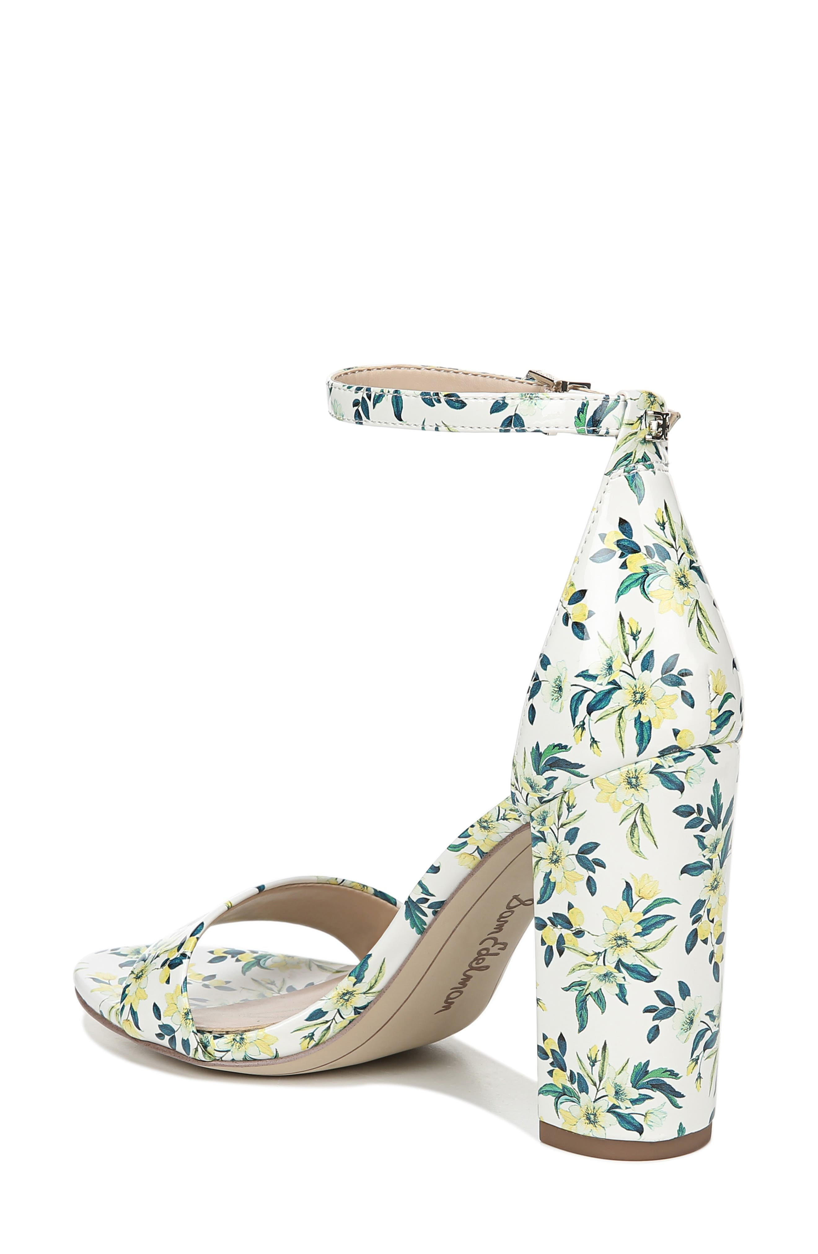 Yaro Ankle Strap Sandal,                             Alternate thumbnail 2, color,                             WHITE MULTI FABRIC