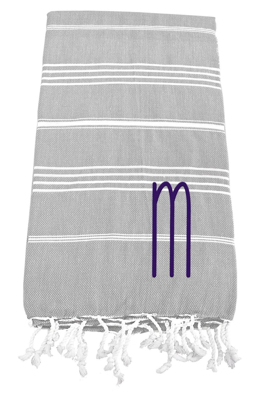 Monogram Turkish Cotton Towel,                             Main thumbnail 15, color,