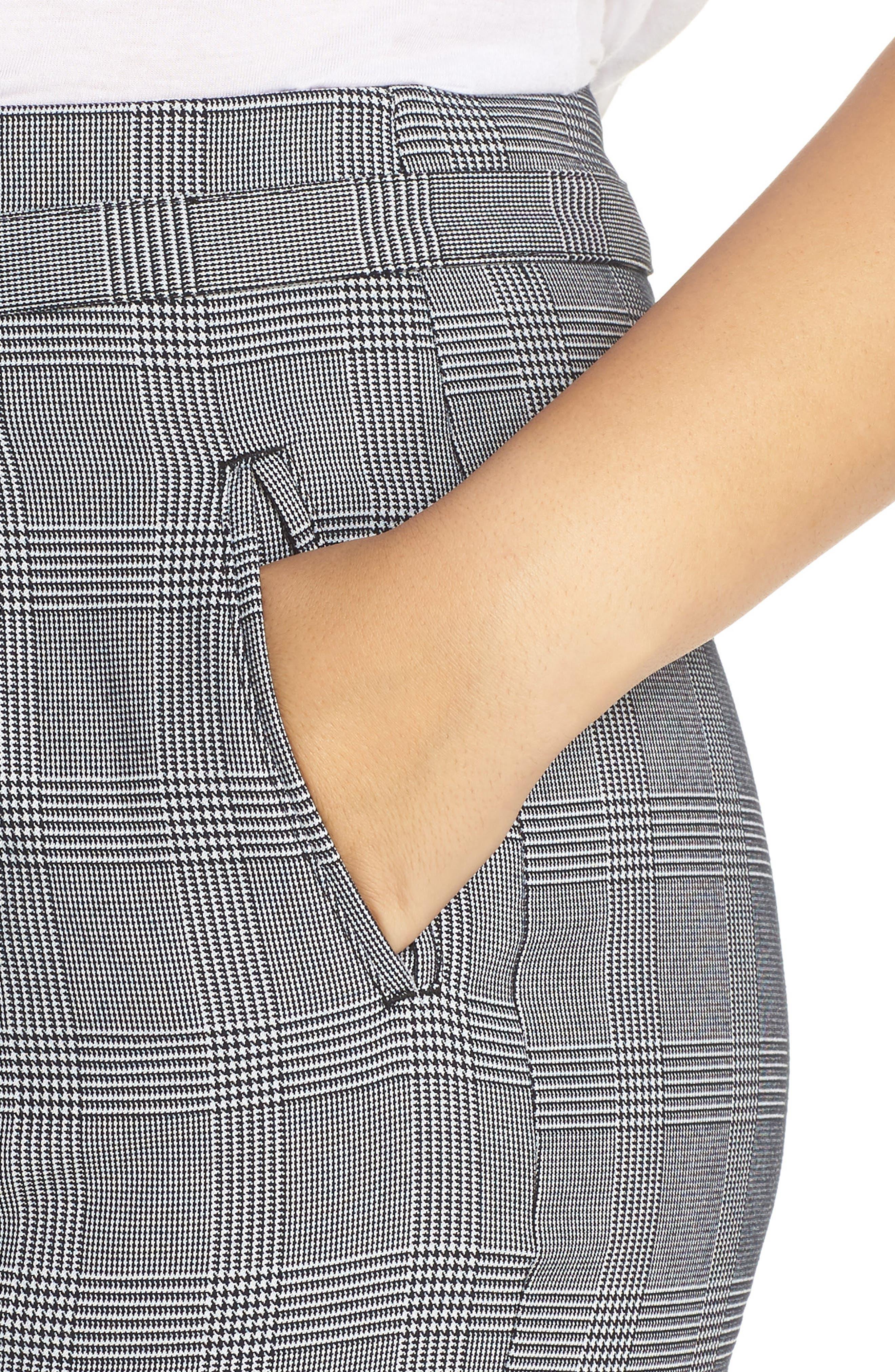 Paperbag Taper Leg Ankle Pants,                             Alternate thumbnail 11, color,                             GREY/ BLACK