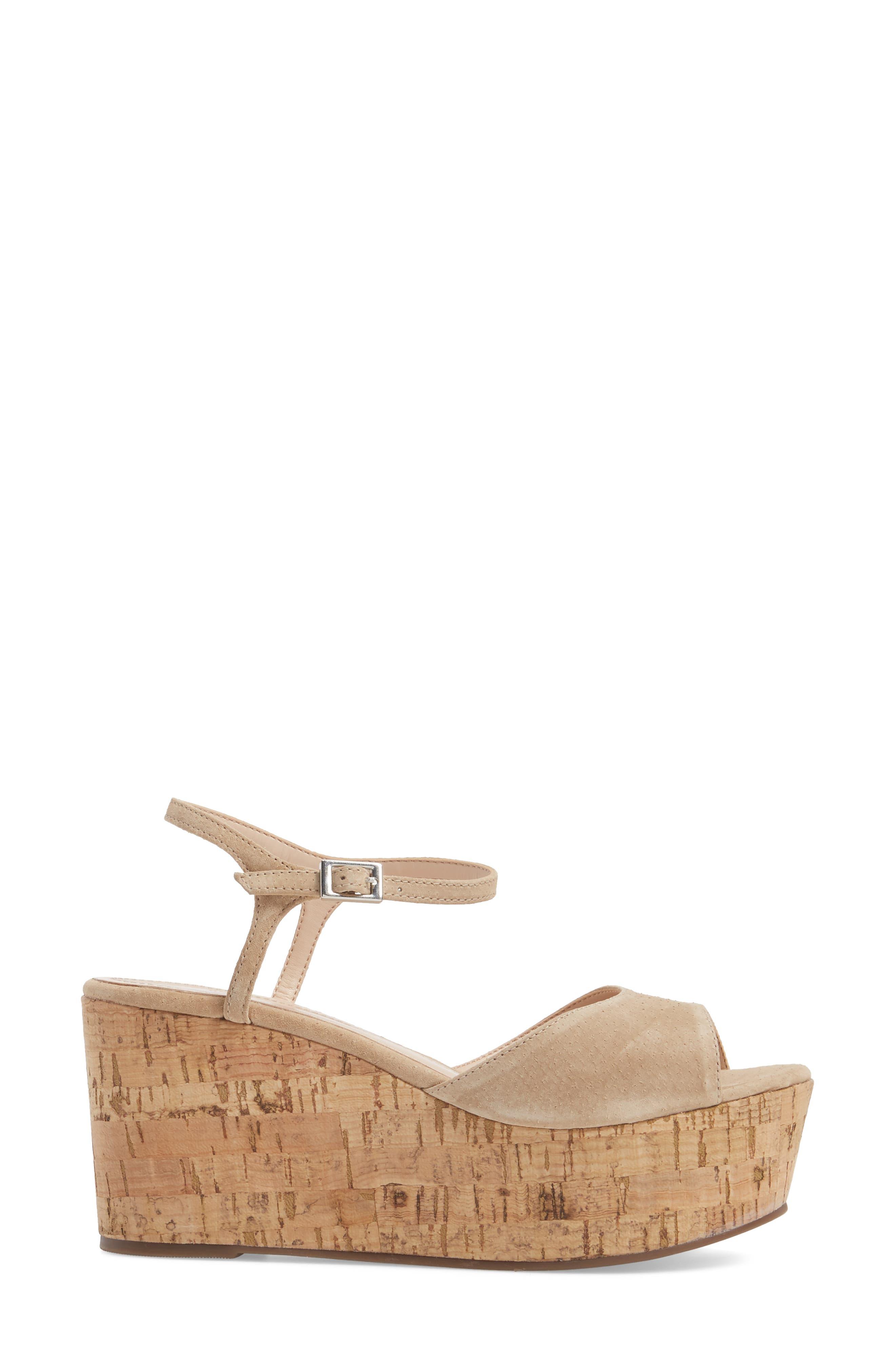 Heloise Platform Wedge Sandal,                             Alternate thumbnail 3, color,                             250