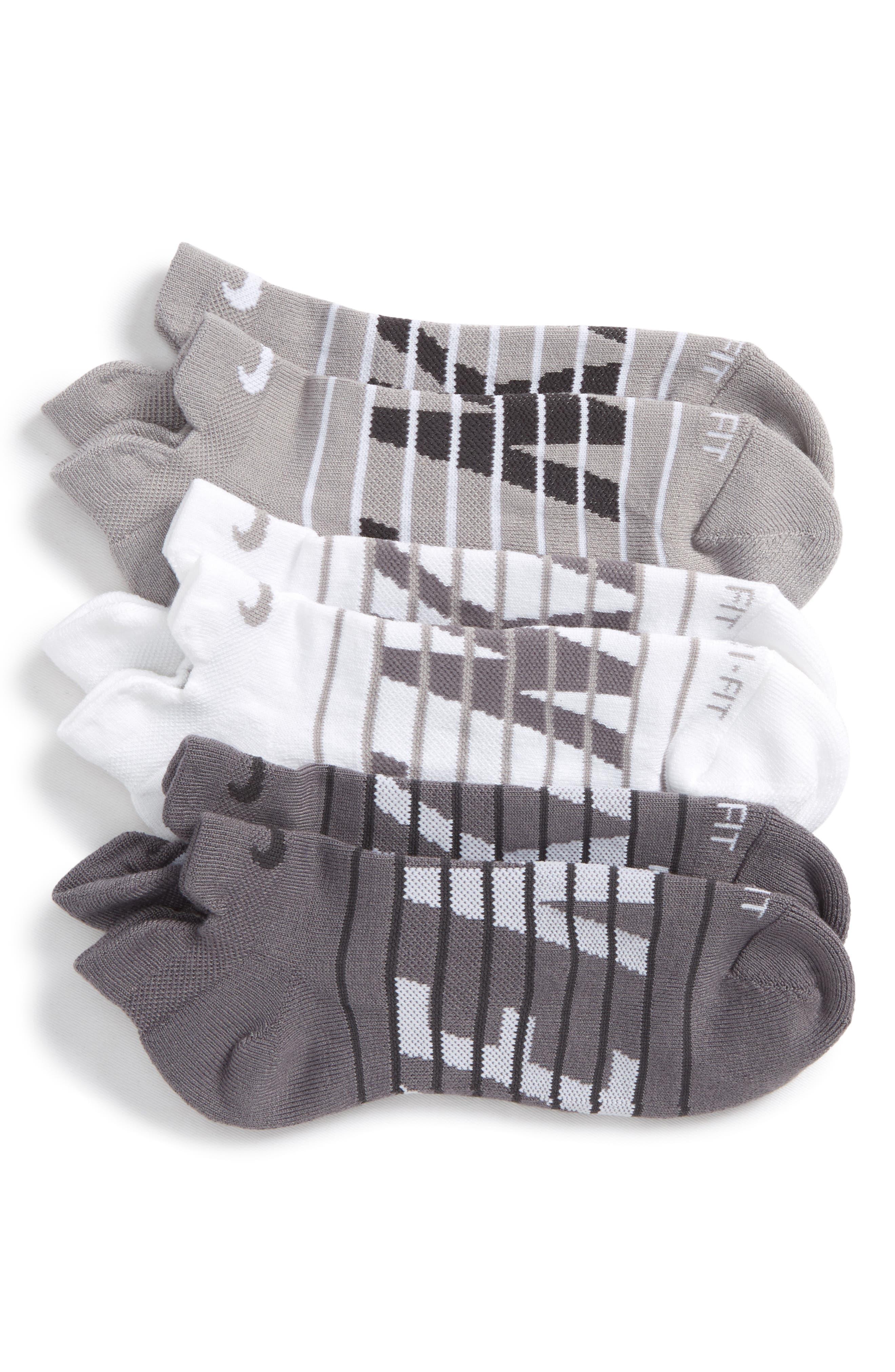 Dry Cushion 3-Pack Low-Cut Socks,                             Main thumbnail 1, color,                             020