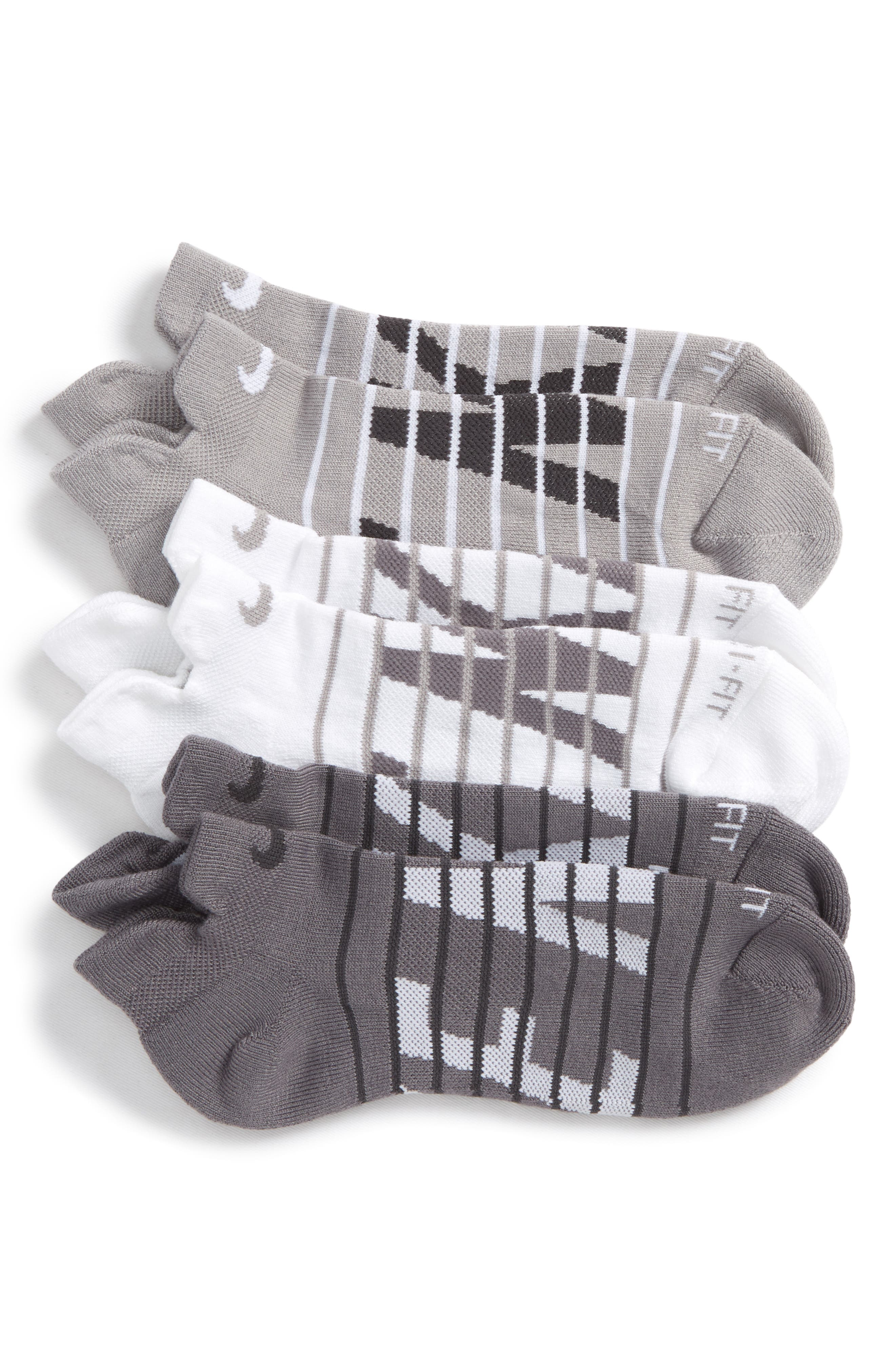 Dry Cushion 3-Pack Low-Cut Socks,                         Main,                         color,