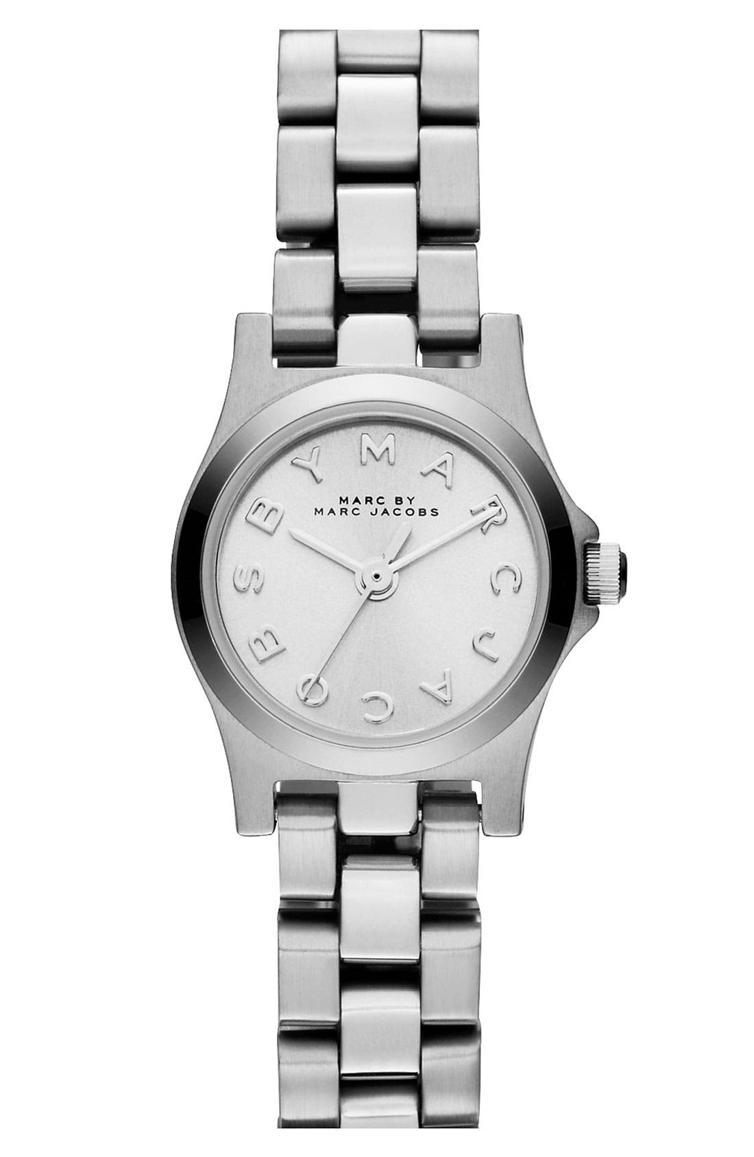 MARC JACOBS,                             'Henry Dinky' Bracelet Watch, 20mm,                             Main thumbnail 1, color,                             040