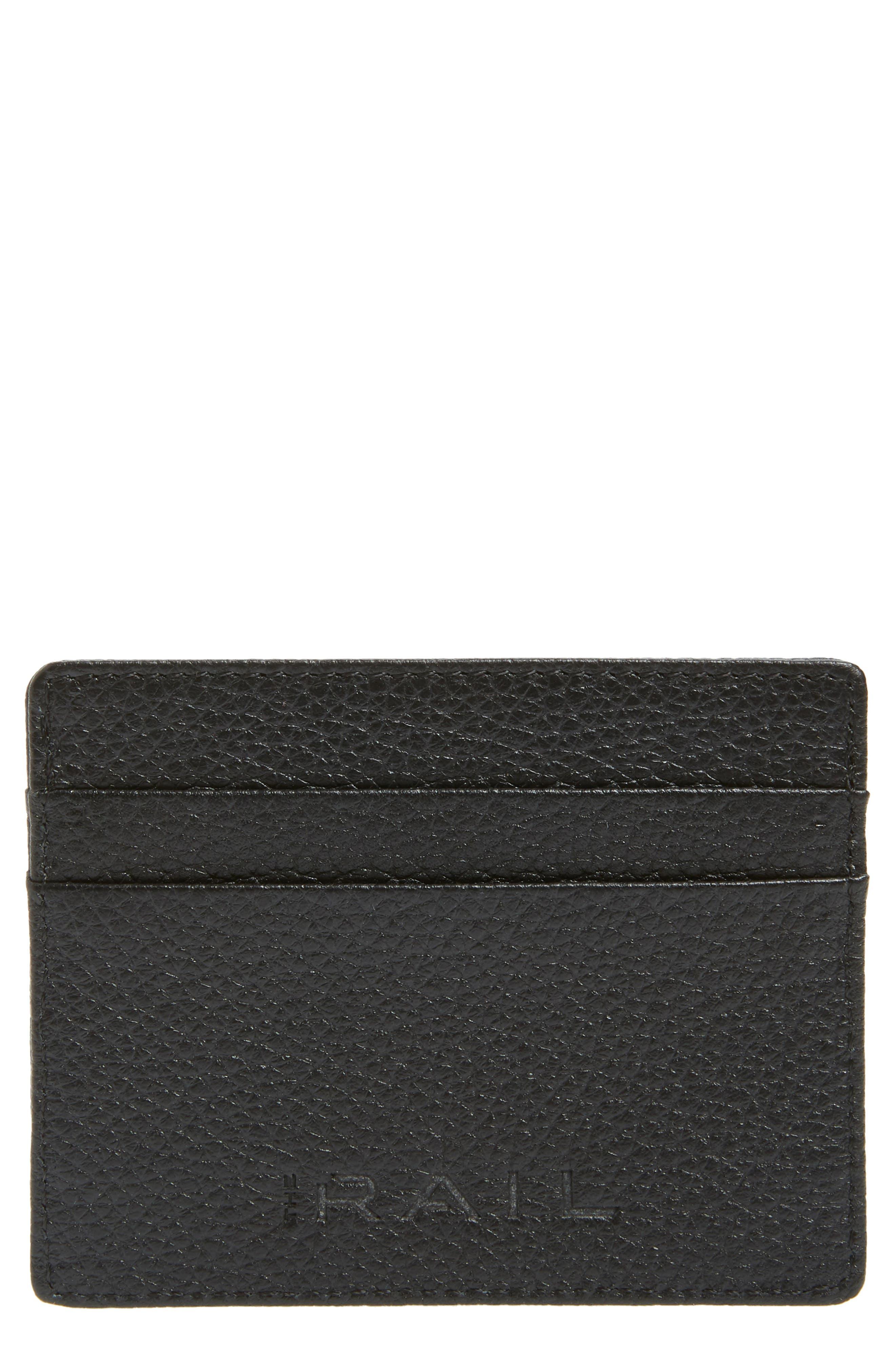 Jamie Leather Card Case,                             Main thumbnail 1, color,                             BLACK CAVIAR