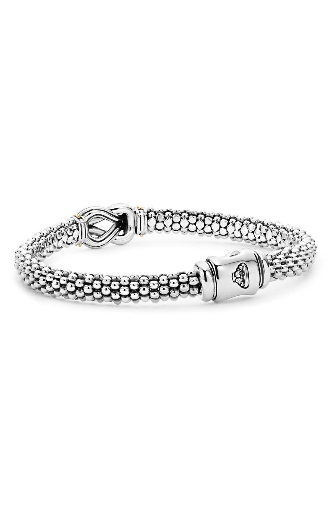 'Newport' Diamond Knot Bracelet,                             Alternate thumbnail 4, color,                             SILVER/ GOLD
