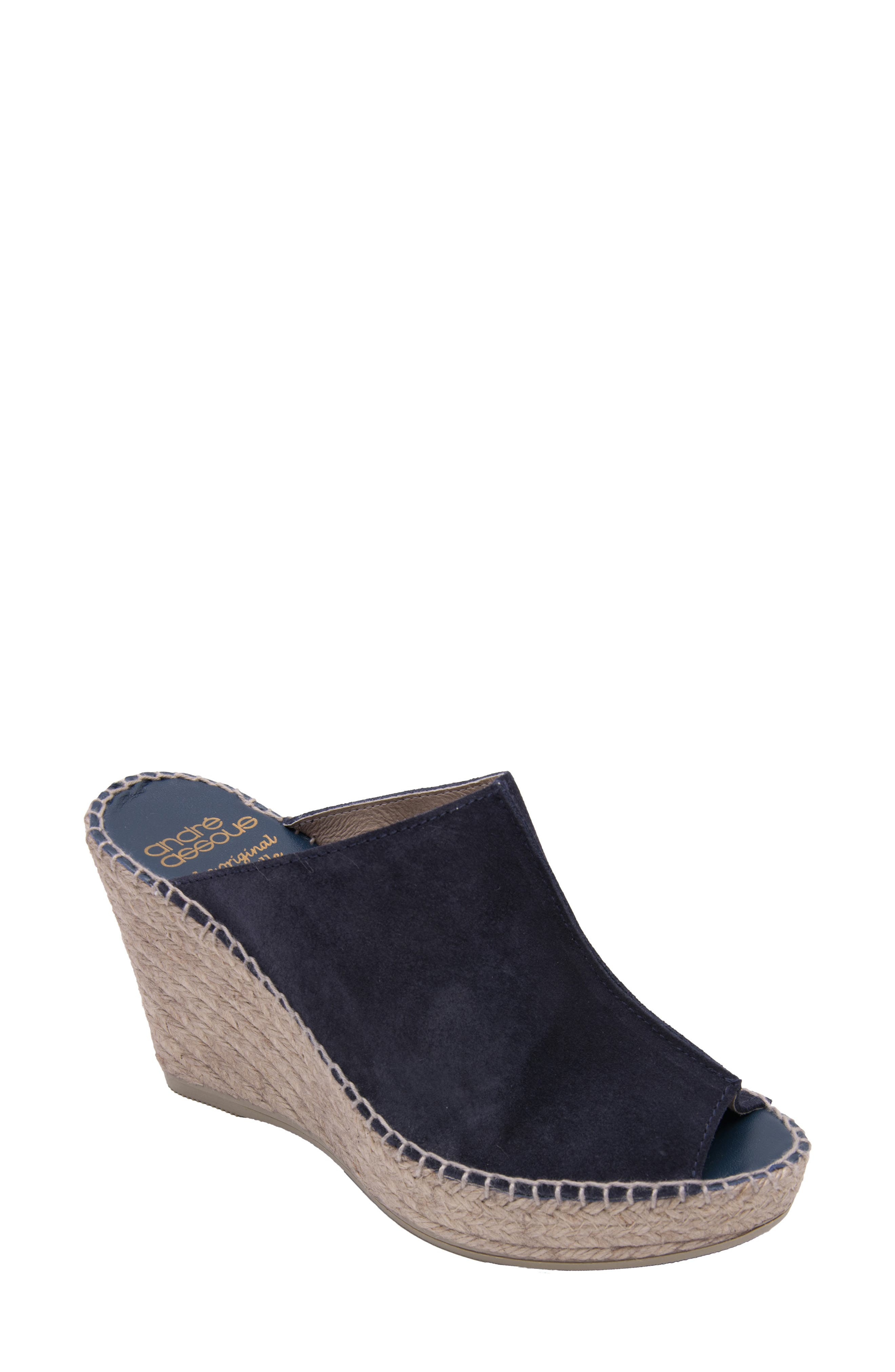 Andre Assous Cici Espadrille Wedge, Blue