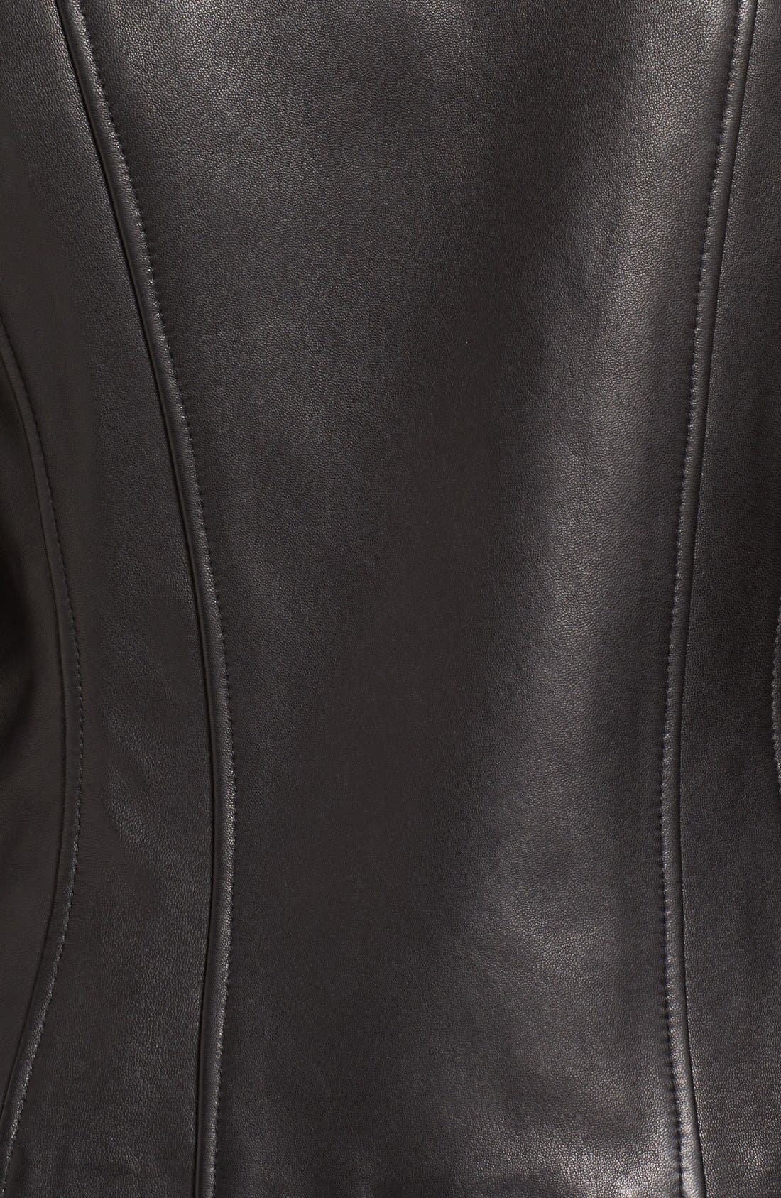 MACKAGE,                             Leather Jacket,                             Alternate thumbnail 5, color,                             001
