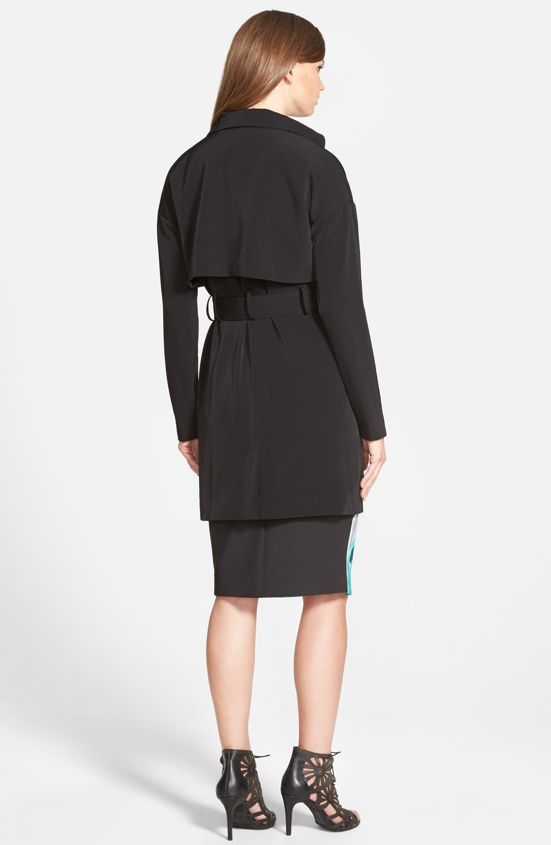 the Label 'Timewaster' TrenchCoat,                             Alternate thumbnail 3, color,                             001