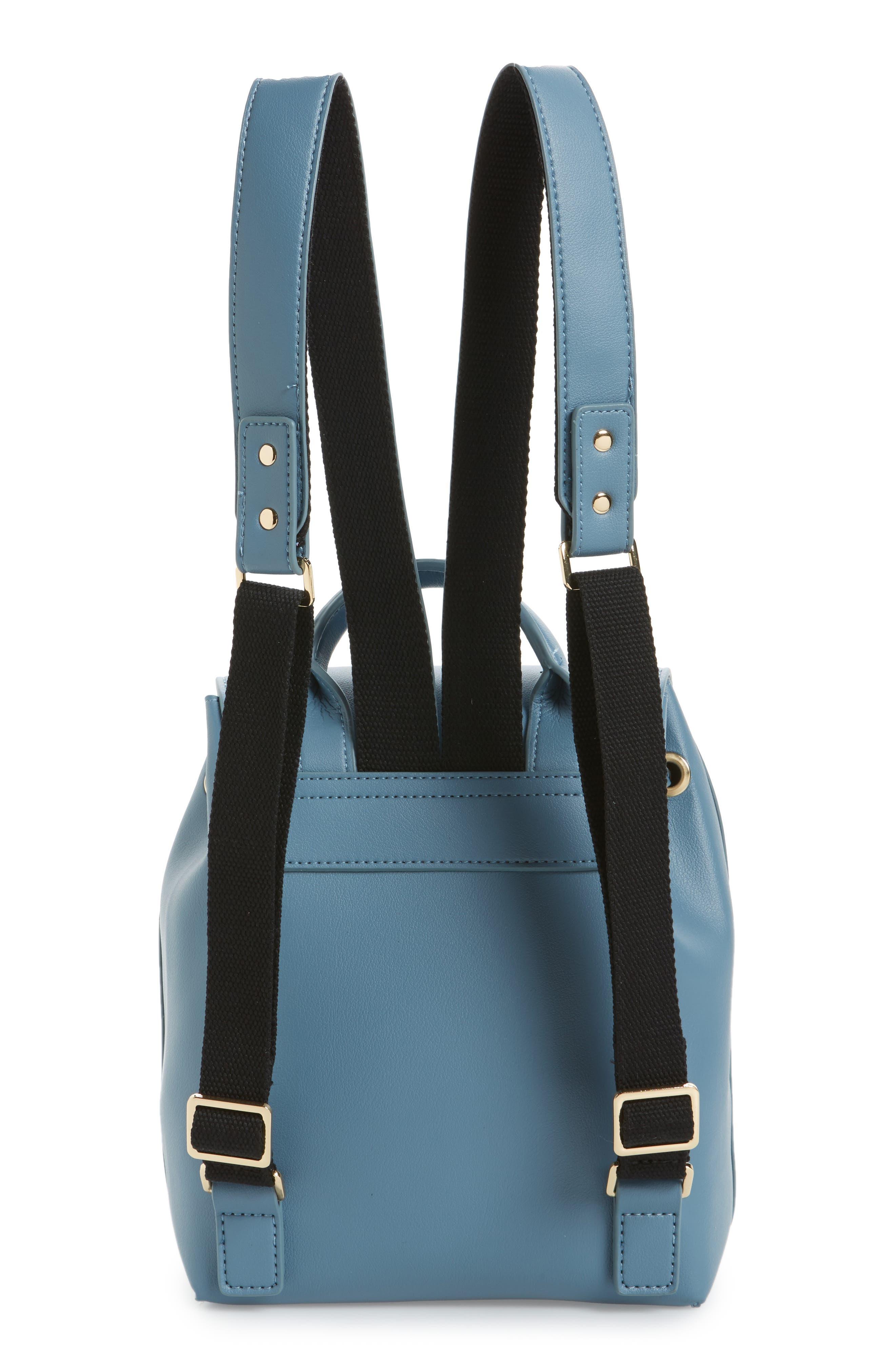 Blake Mini Faux Leather Backpack,                             Alternate thumbnail 6, color,