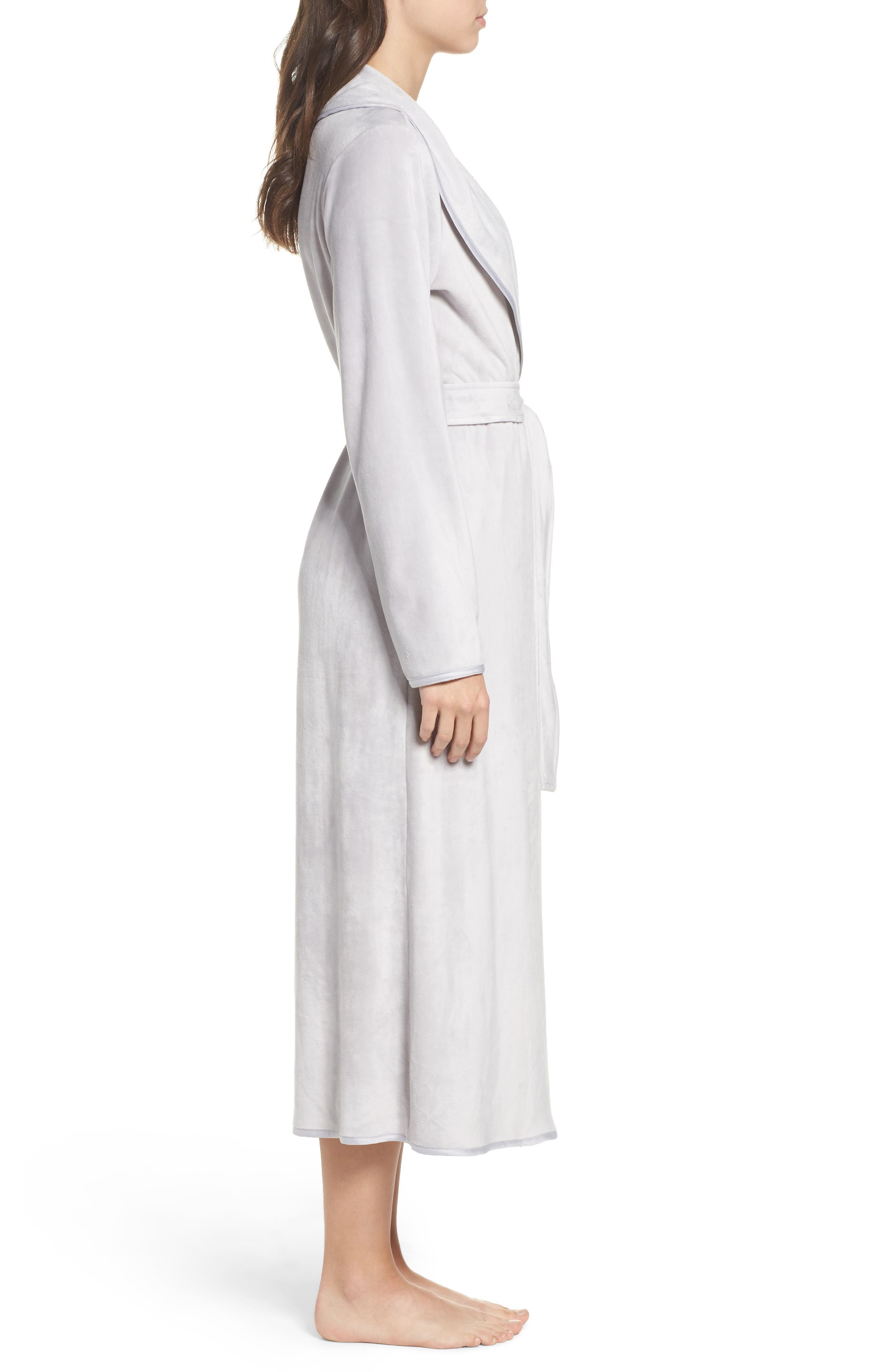 Luxe Shawl Robe,                             Alternate thumbnail 3, color,                             050