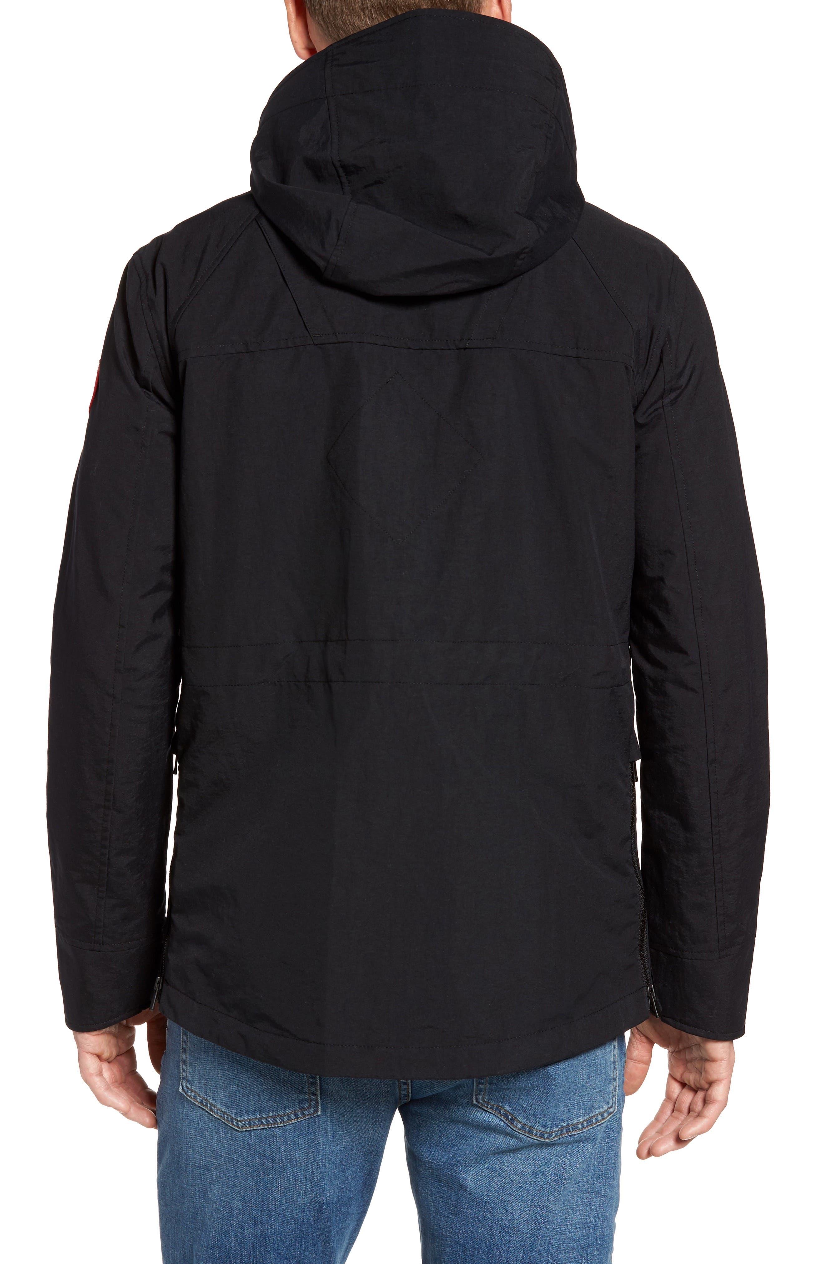 CANADA GOOSE,                             Redstone Slim Fit Hooded Jacket,                             Alternate thumbnail 2, color,                             001