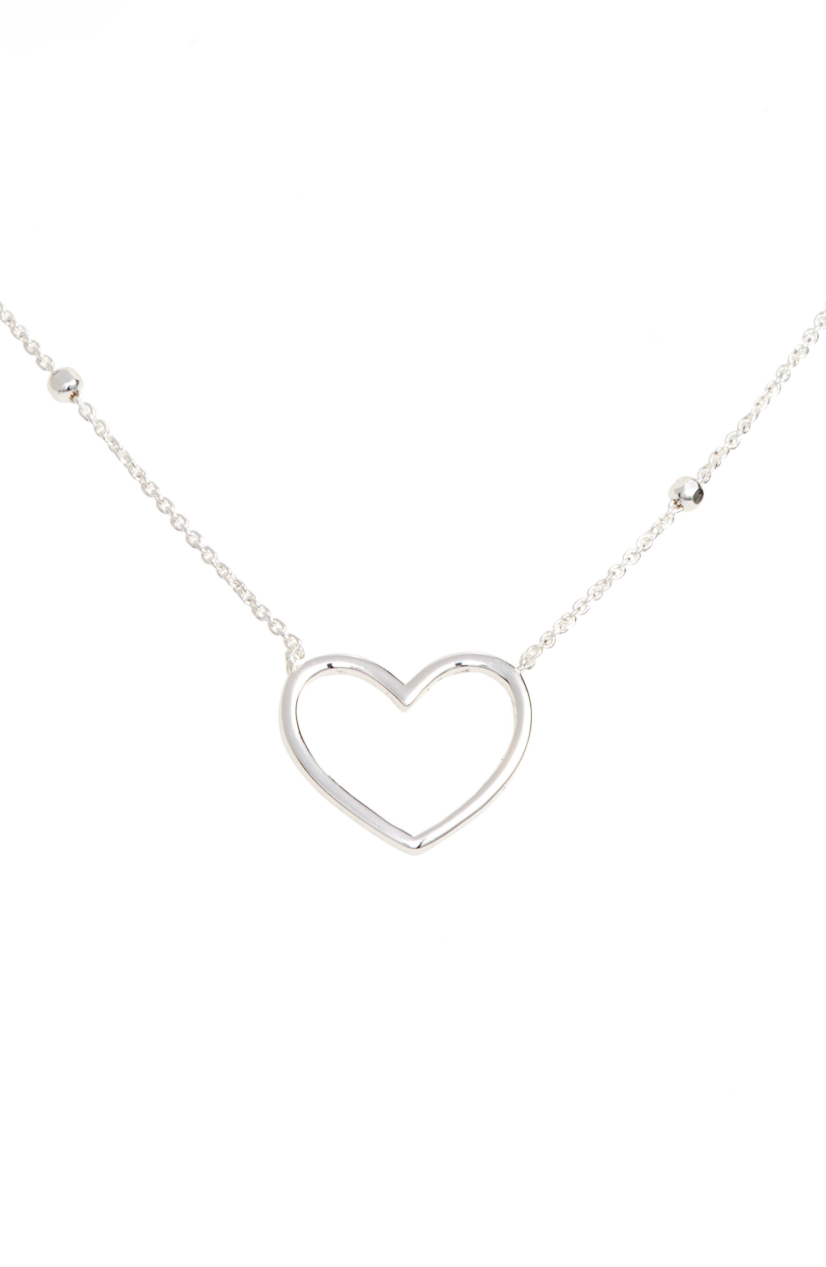 Heart Pendant Necklace,                         Main,                         color,