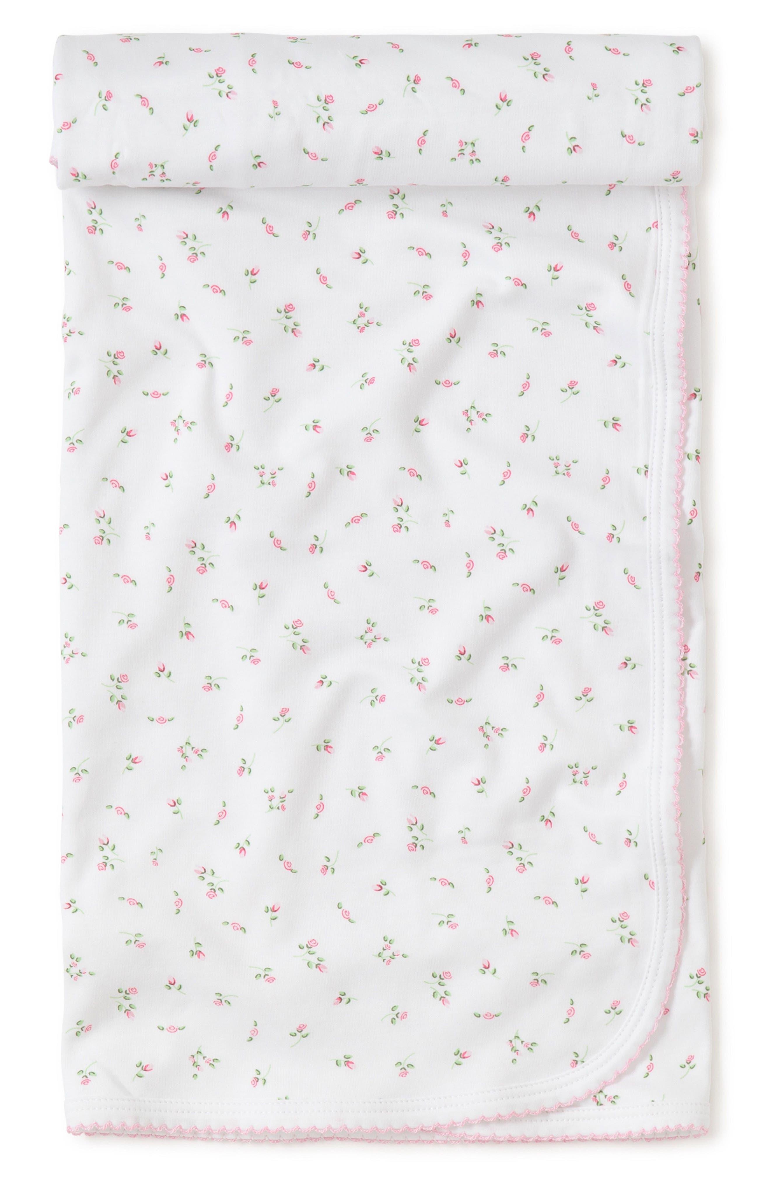 Garden Baby Receiving Blanket,                         Main,                         color, WHITE