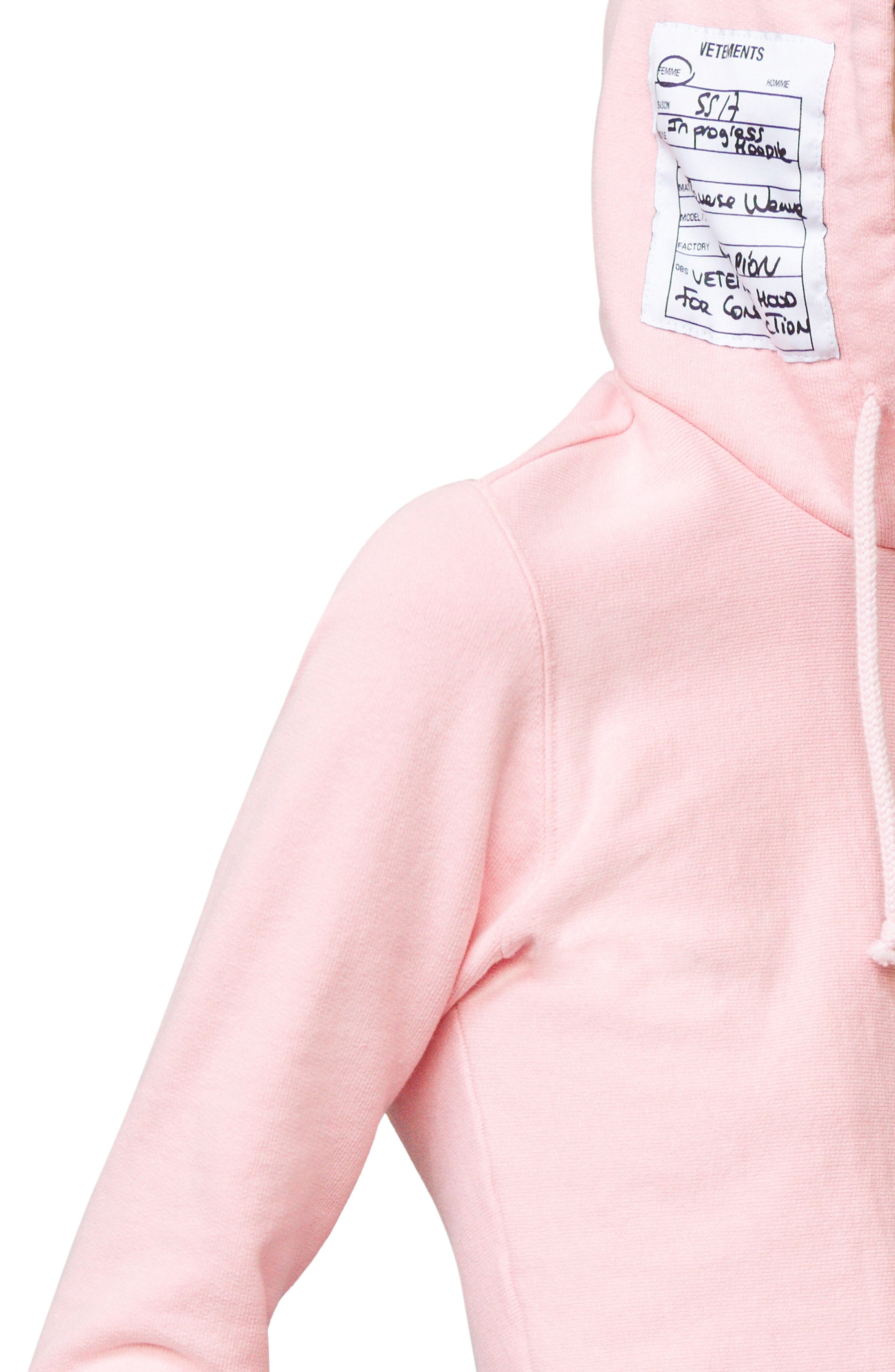 x Champion Fitted Hoodie,                             Alternate thumbnail 5, color,                             650