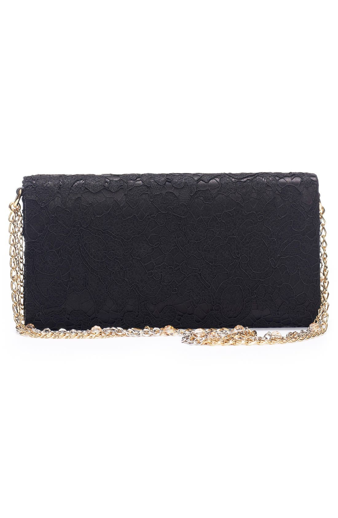 Lace Pouchette Clutch,                             Alternate thumbnail 3, color,