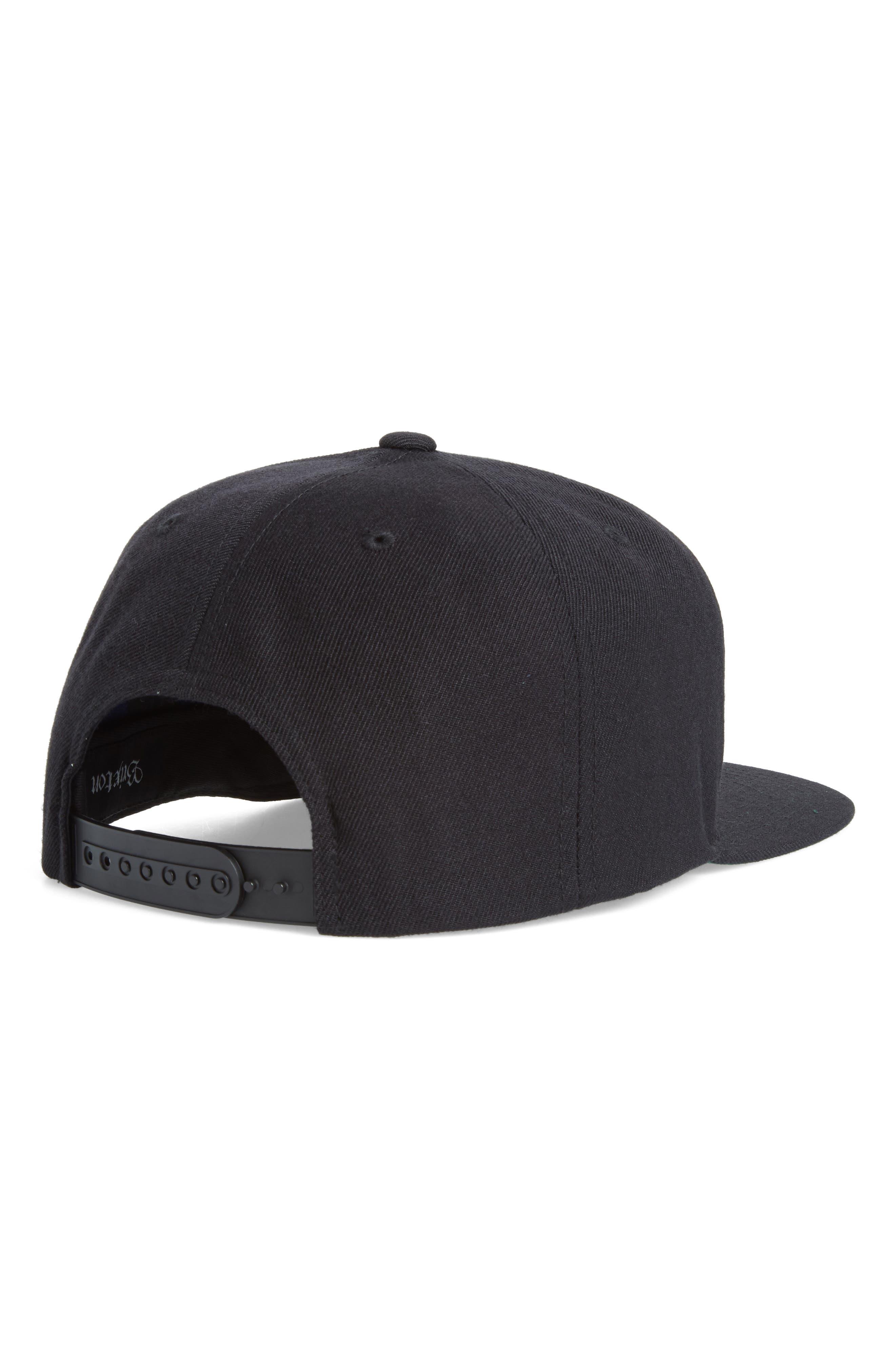 'Rival' Snapback Cap,                             Alternate thumbnail 2, color,                             BLACK