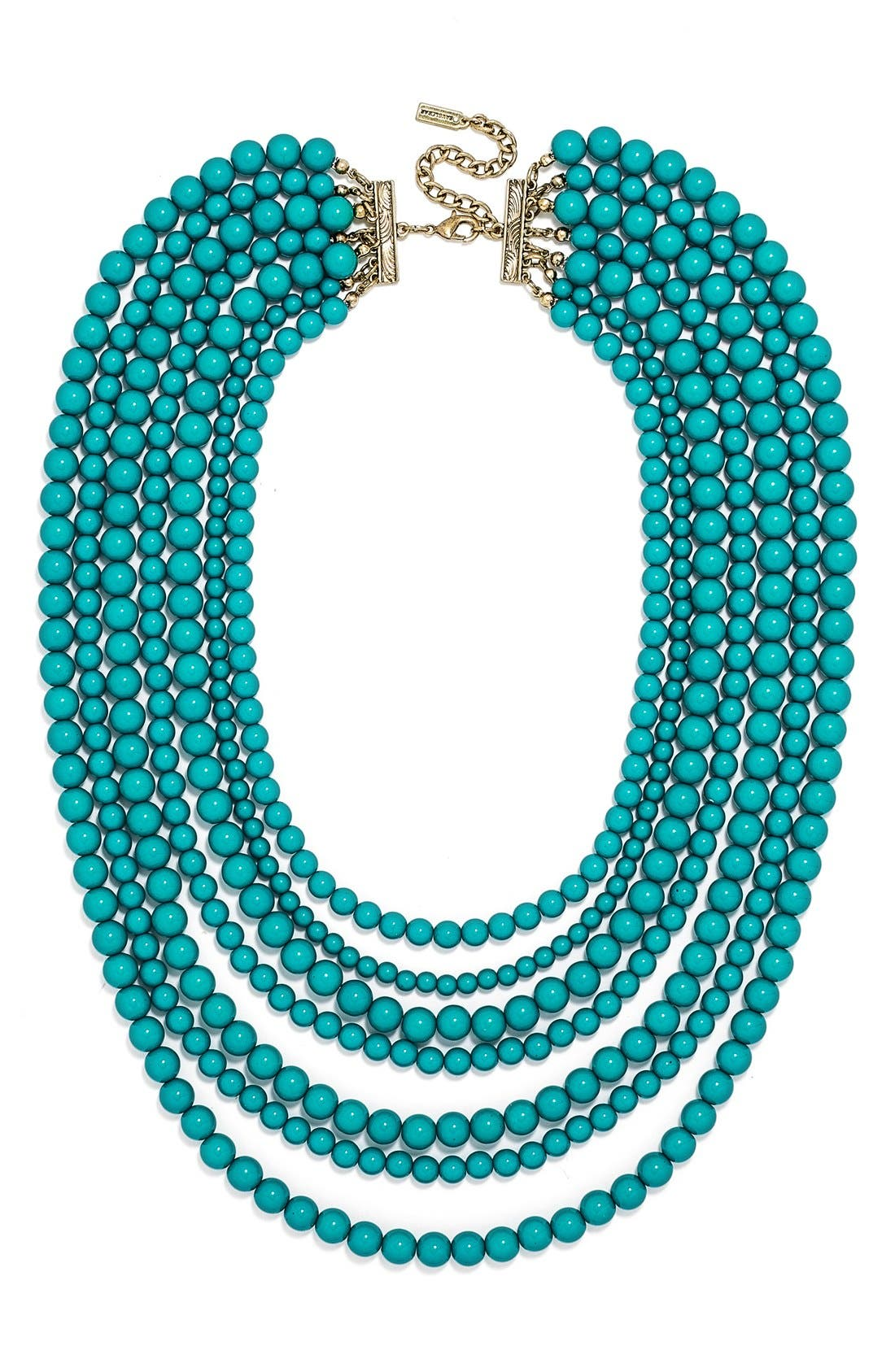 'Bold' Multistrand Beaded Statement Necklace,                             Main thumbnail 6, color,