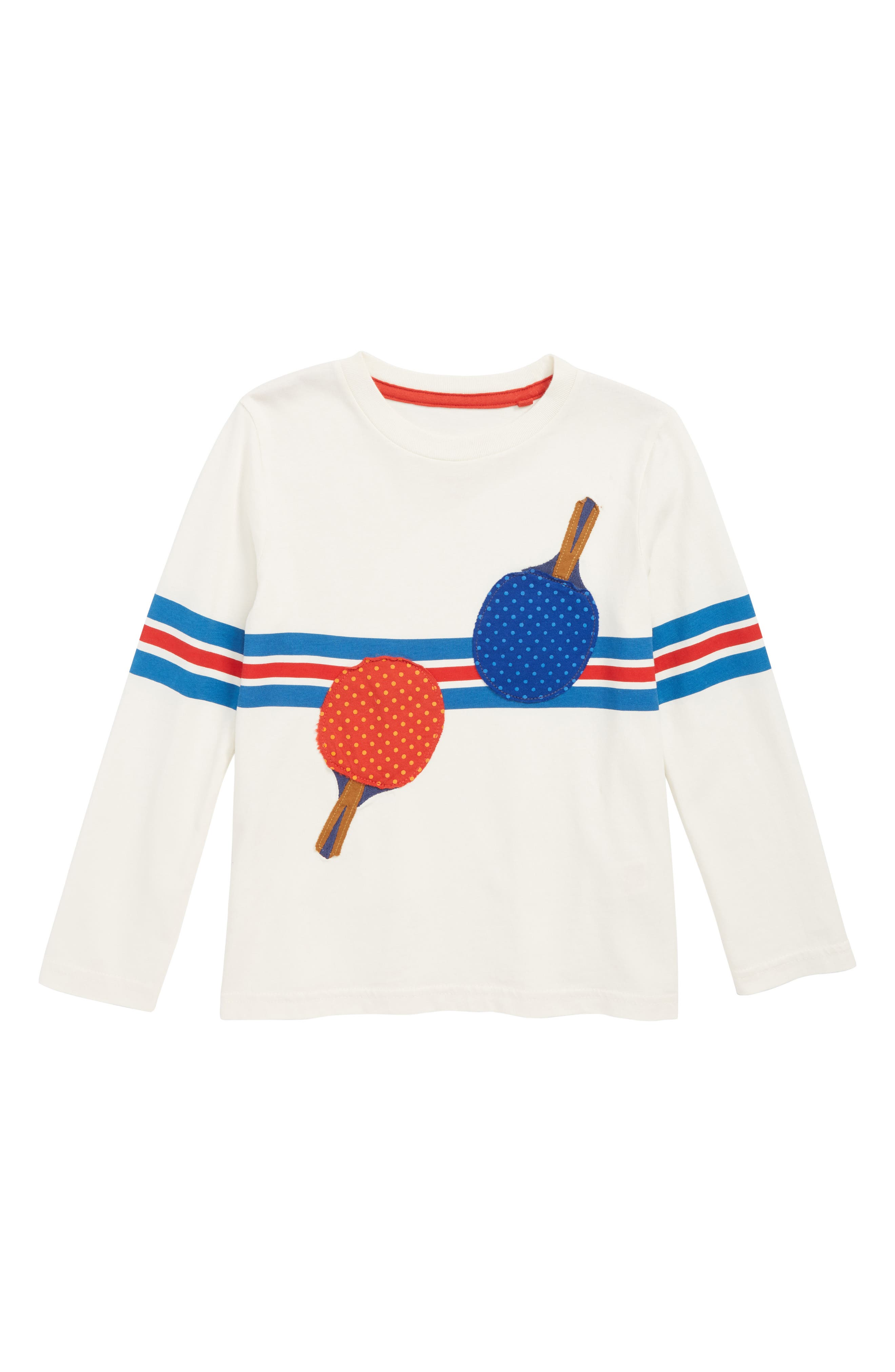Stripy Ping Pong Sports T-Shirt,                             Main thumbnail 1, color,                             MINI ECRU