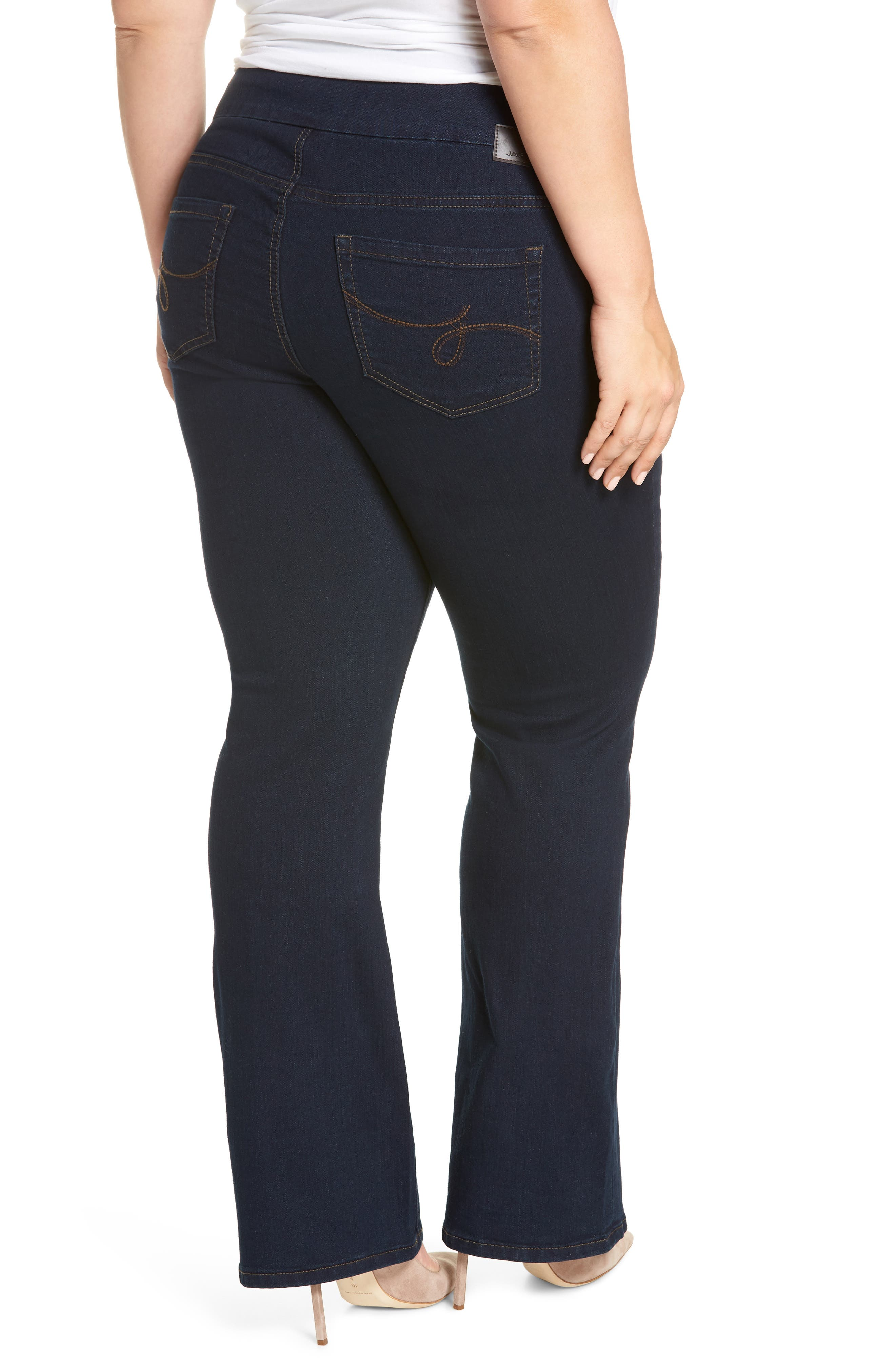 Peri Stretch Straight Leg Jeans,                             Alternate thumbnail 2, color,                             DARK INDIGO