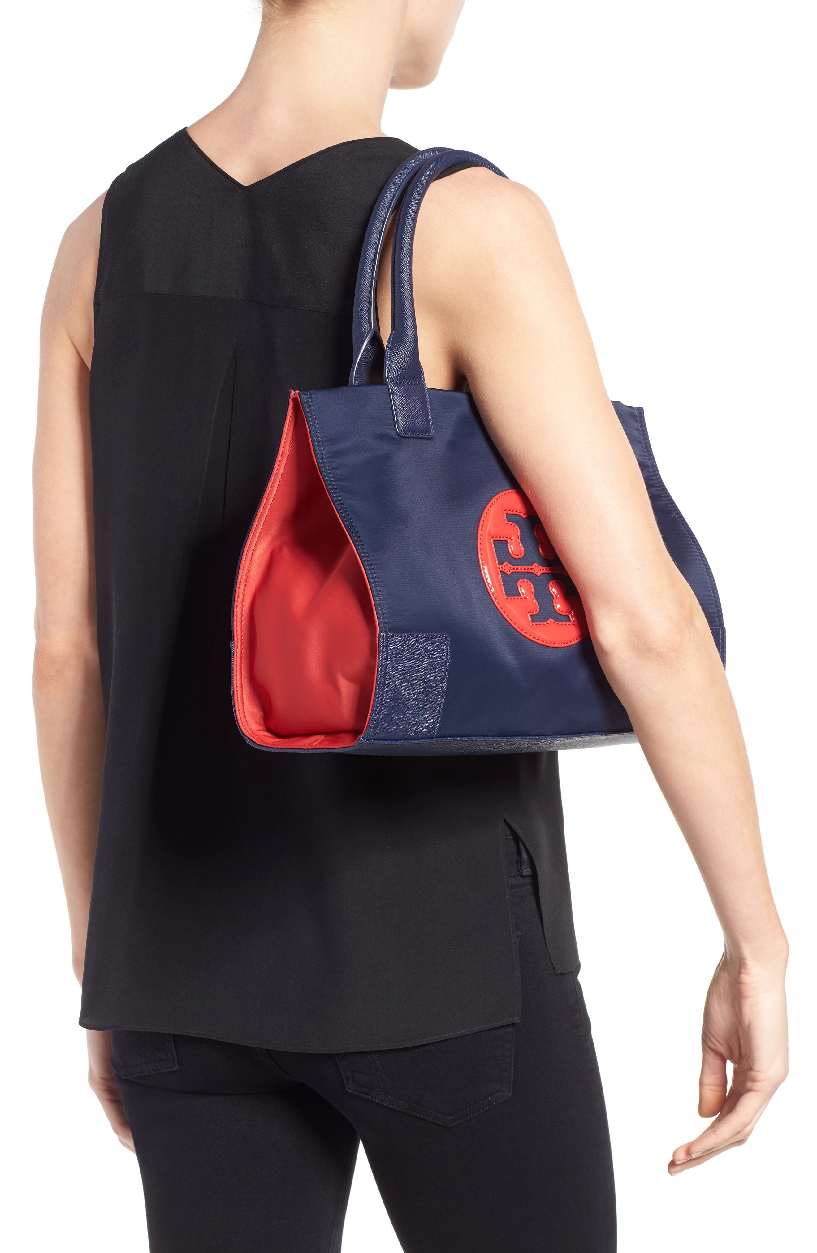 Mini Ella Colorblock Nylon Tote,                             Alternate thumbnail 2, color,                             403
