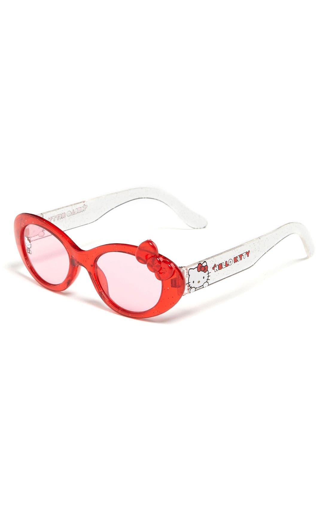 PAN OCEANIC EYEWEAR,                             'Hello Kitty<sup>®</sup>' Sunglasses,                             Main thumbnail 1, color,                             600