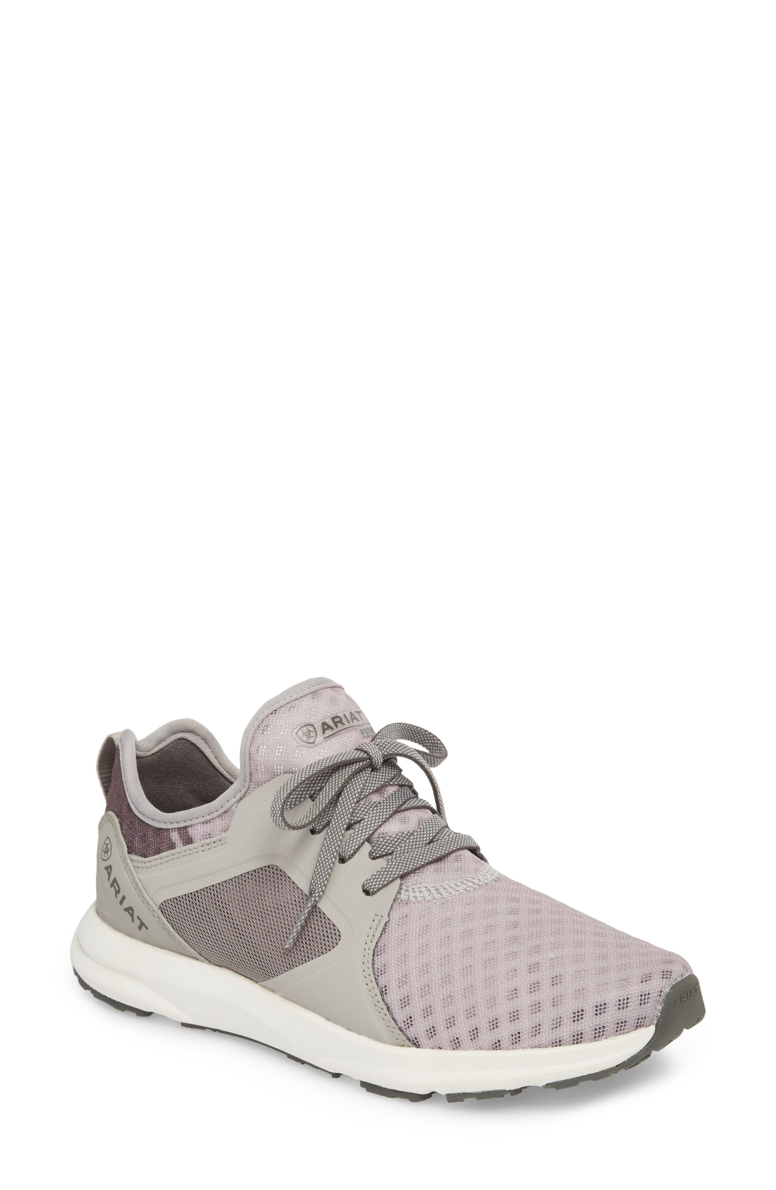 ARIAT Fuse Print Sneaker in Grey Mesh