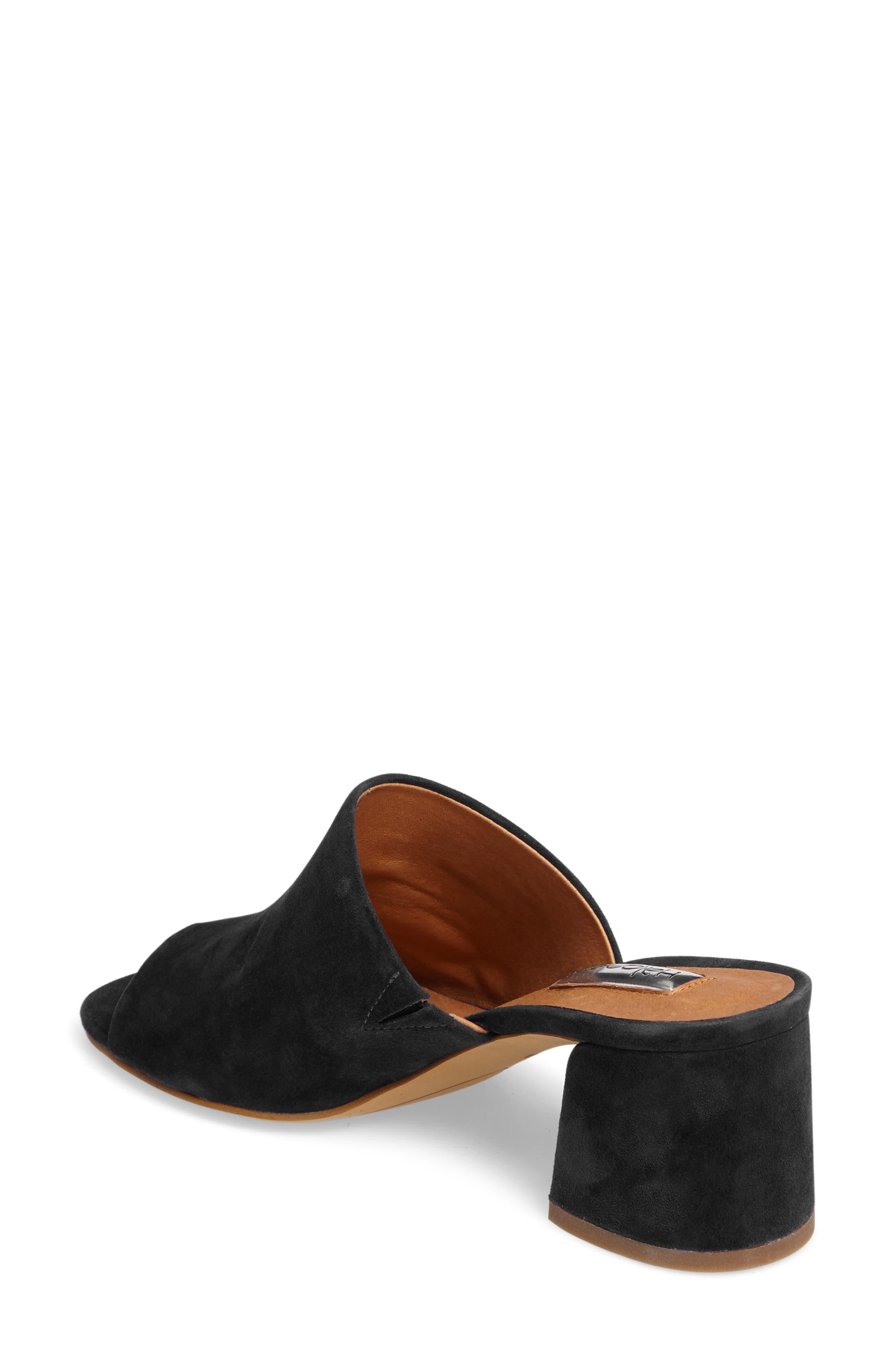 Freda Slide Sandal,                             Alternate thumbnail 2, color,                             BLACK SUEDE