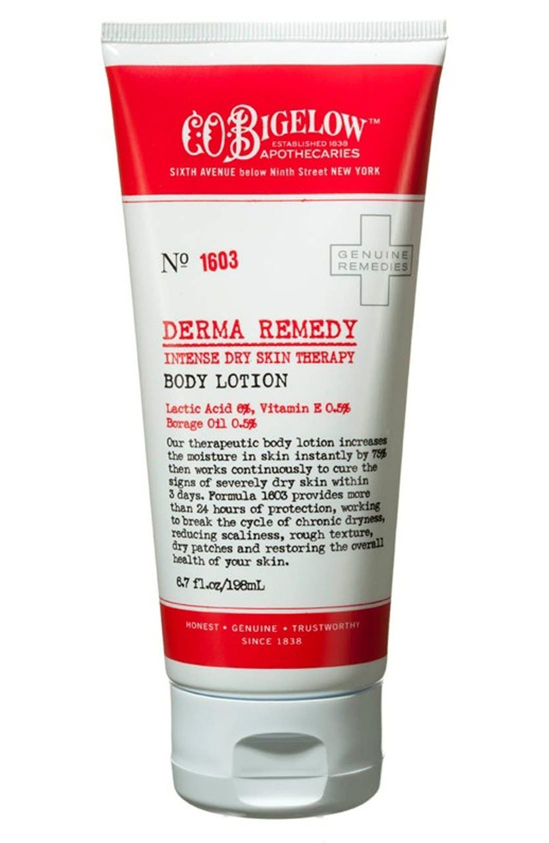 Derma Remedy Body Lotion,                             Main thumbnail 1, color,                             000