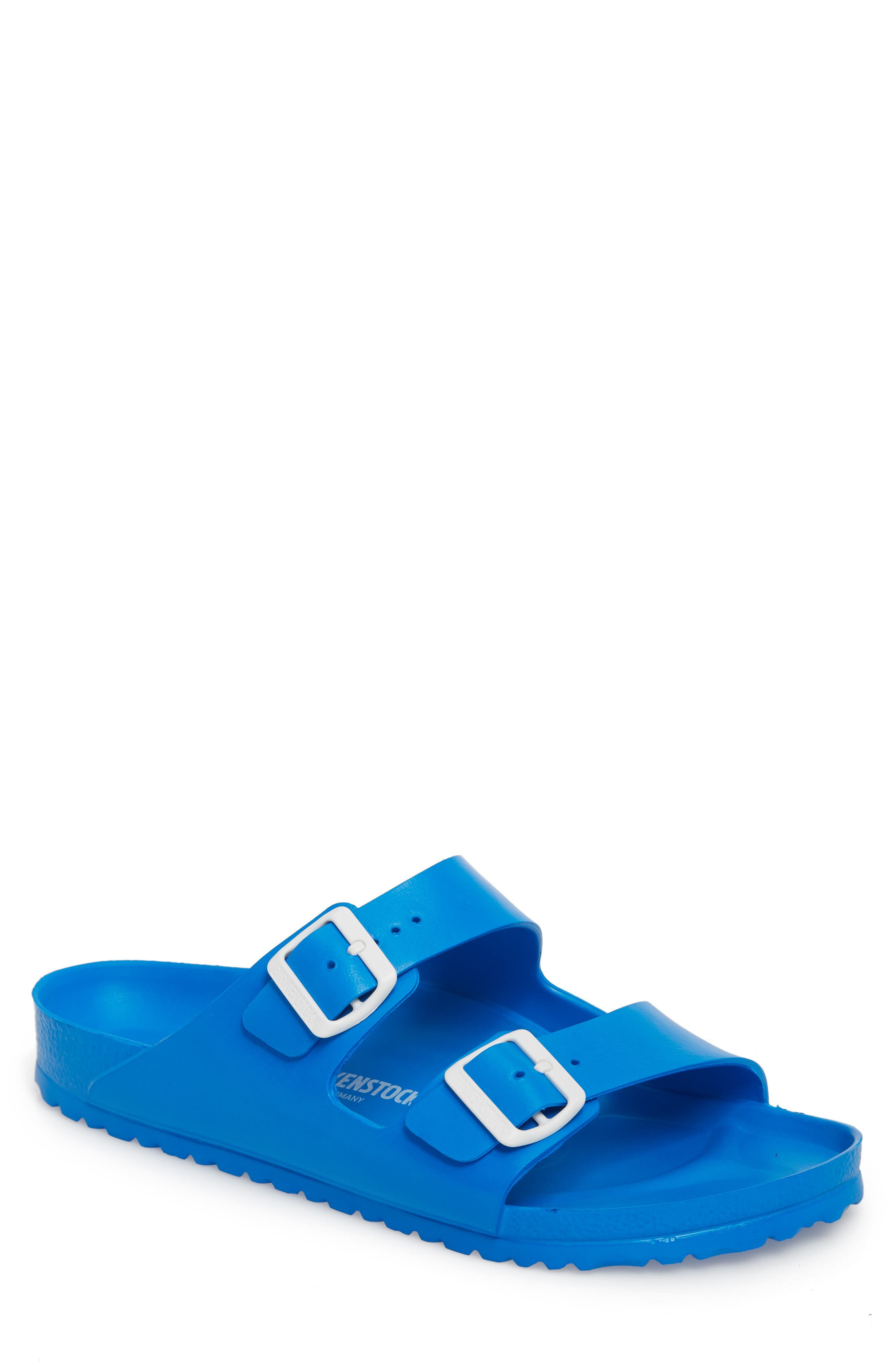 Birkenstock Essentials Arizona Eva Waterproof Slide Sandal,10.5 - Blue