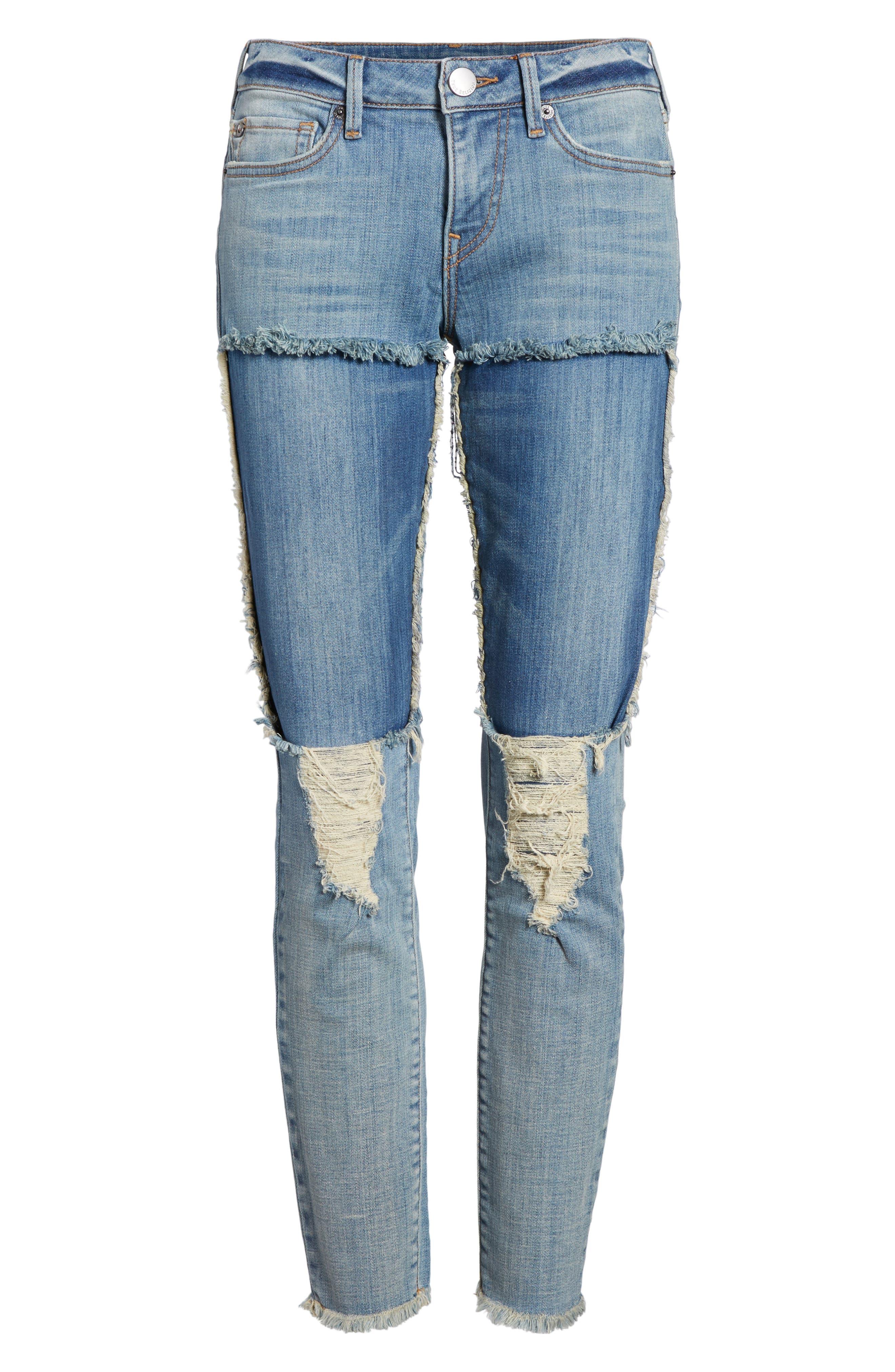 Halle Super Skinny Jeans,                             Alternate thumbnail 7, color,                             401