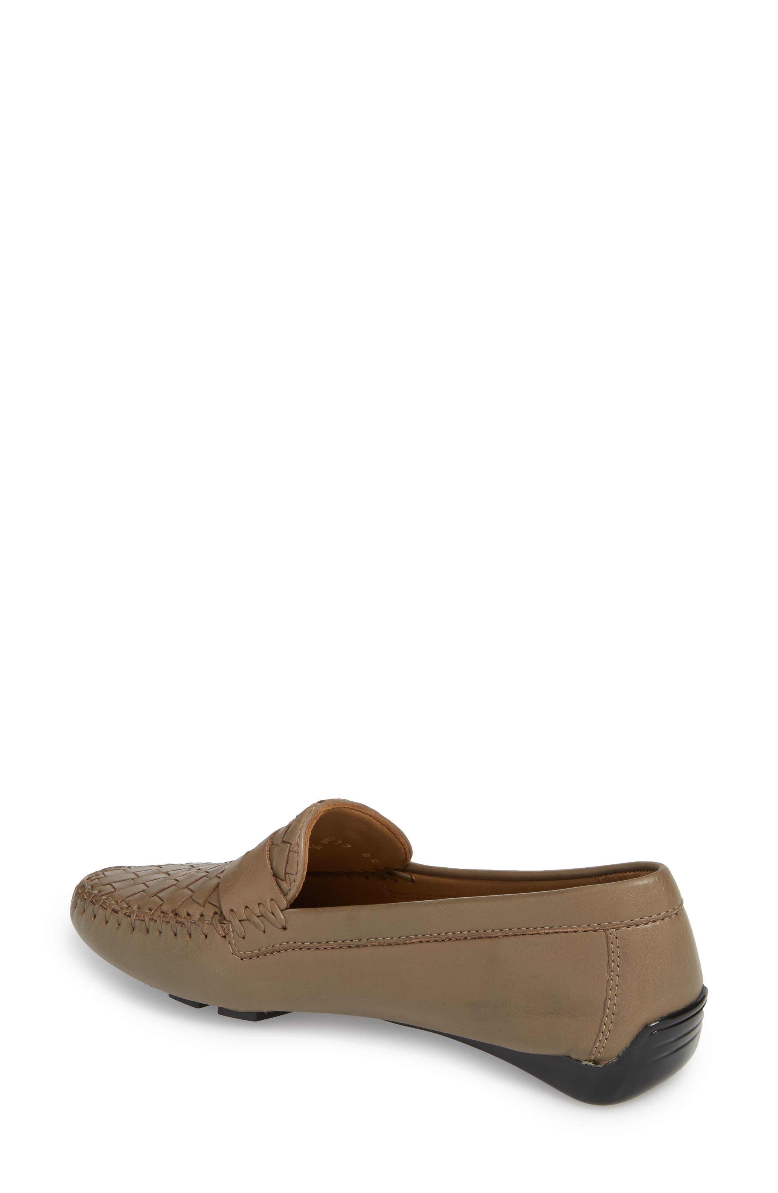 'Petra' Driving Shoe,                             Alternate thumbnail 2, color,                             UMBER LEATHER