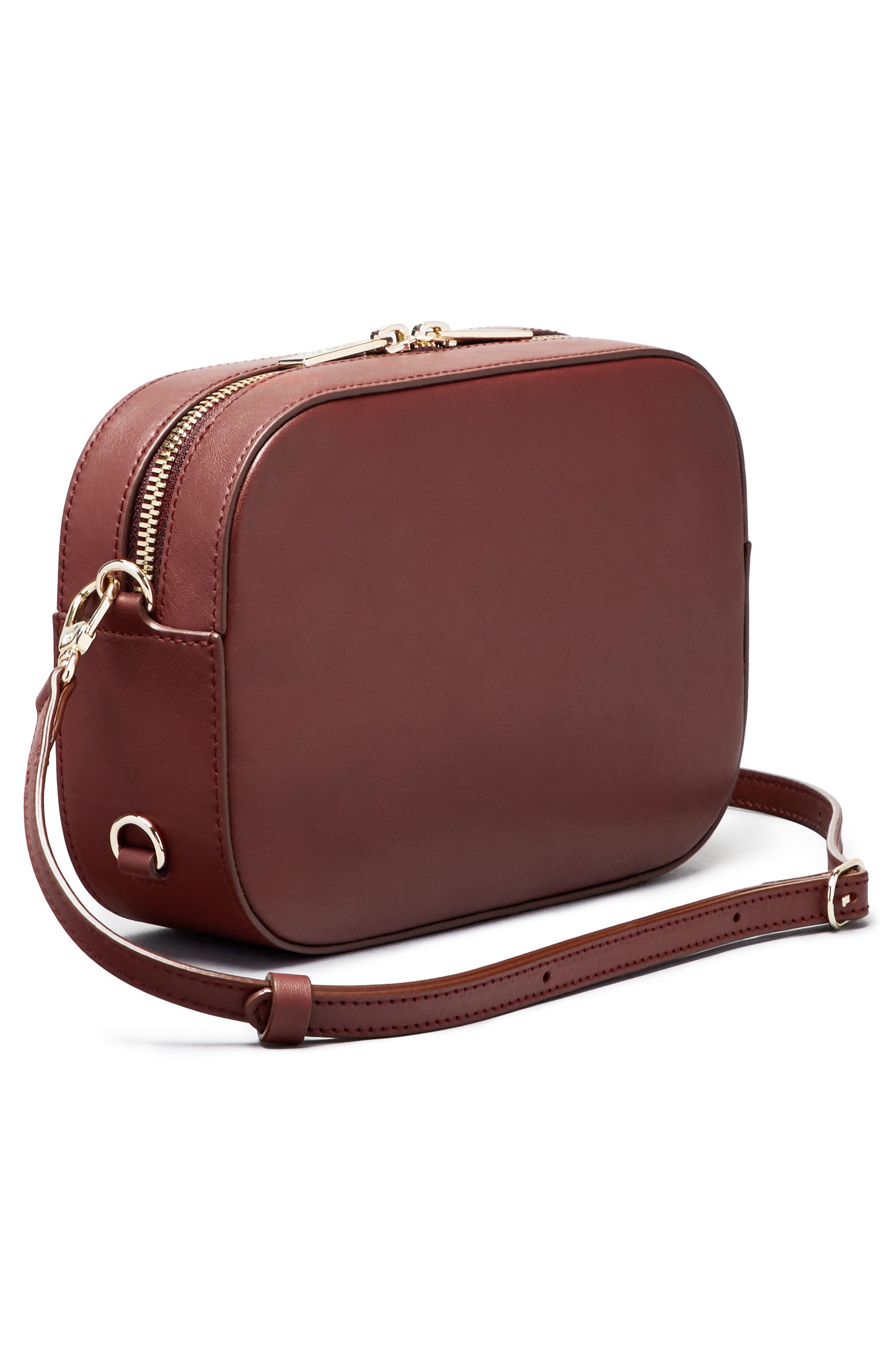 Bigger Leather Camera Bag,                             Alternate thumbnail 17, color,