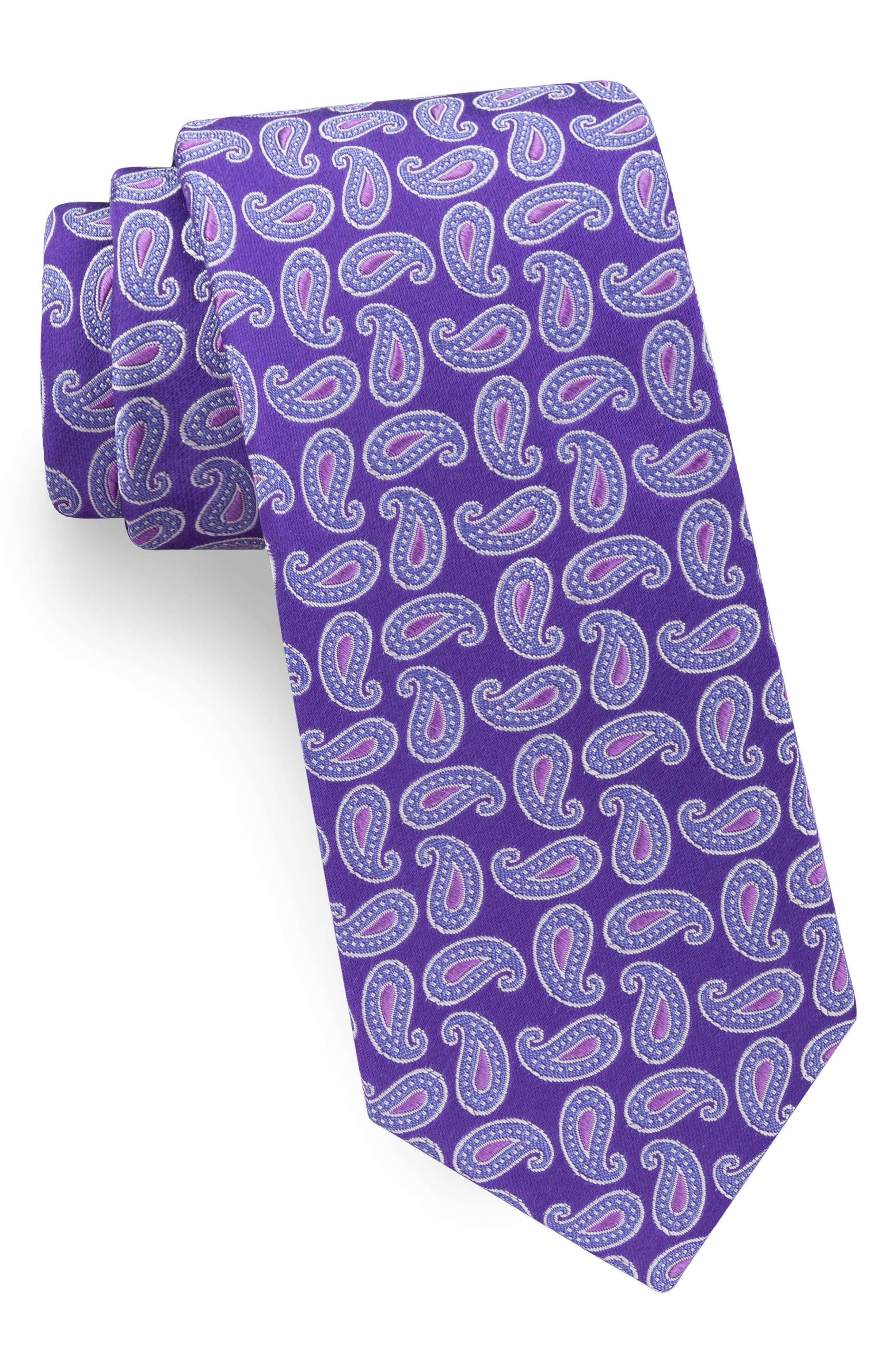 Paisley Silk Tie,                         Main,                         color,