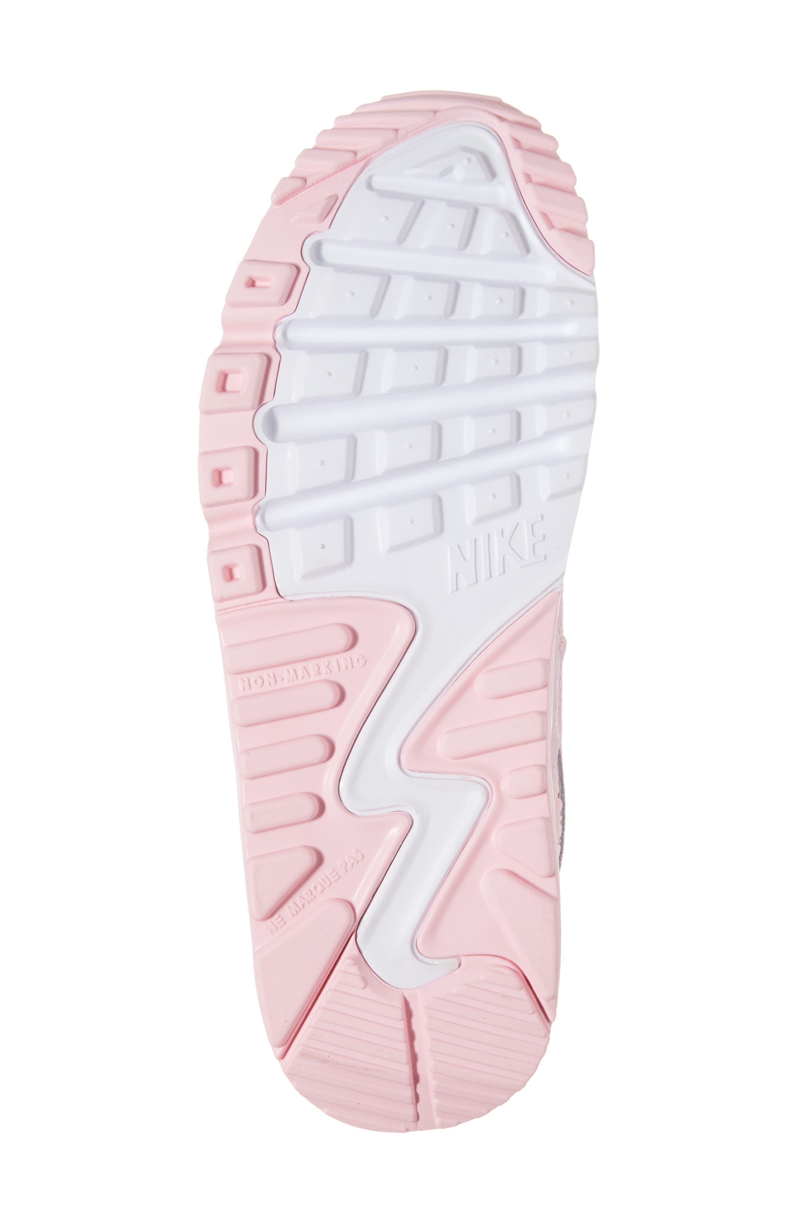 Air Max 90 Mesh Sneaker,                             Alternate thumbnail 6, color,                             650