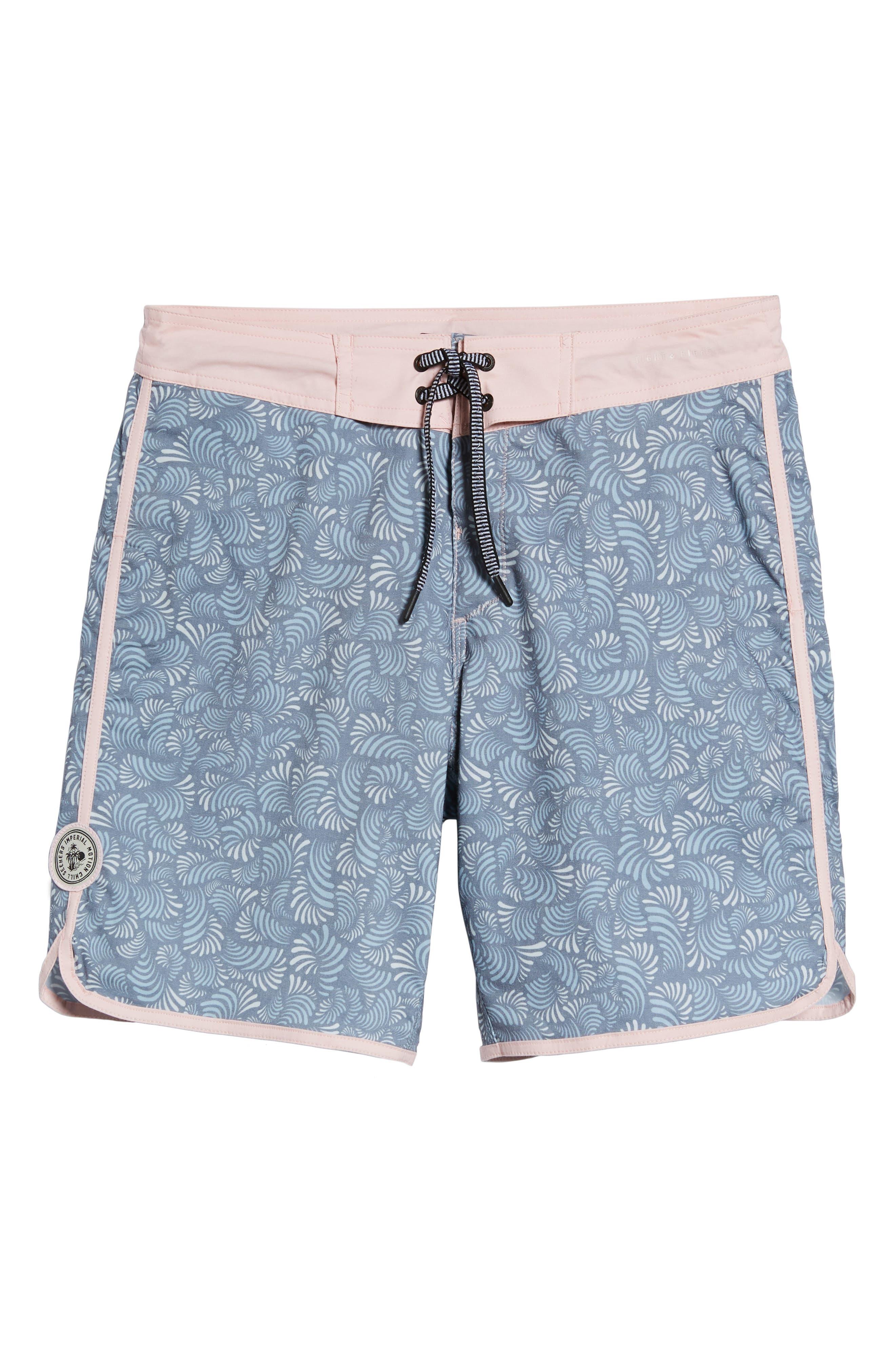 Seeker Board Shorts,                             Alternate thumbnail 6, color,                             LIGHT PINK/ BLUE