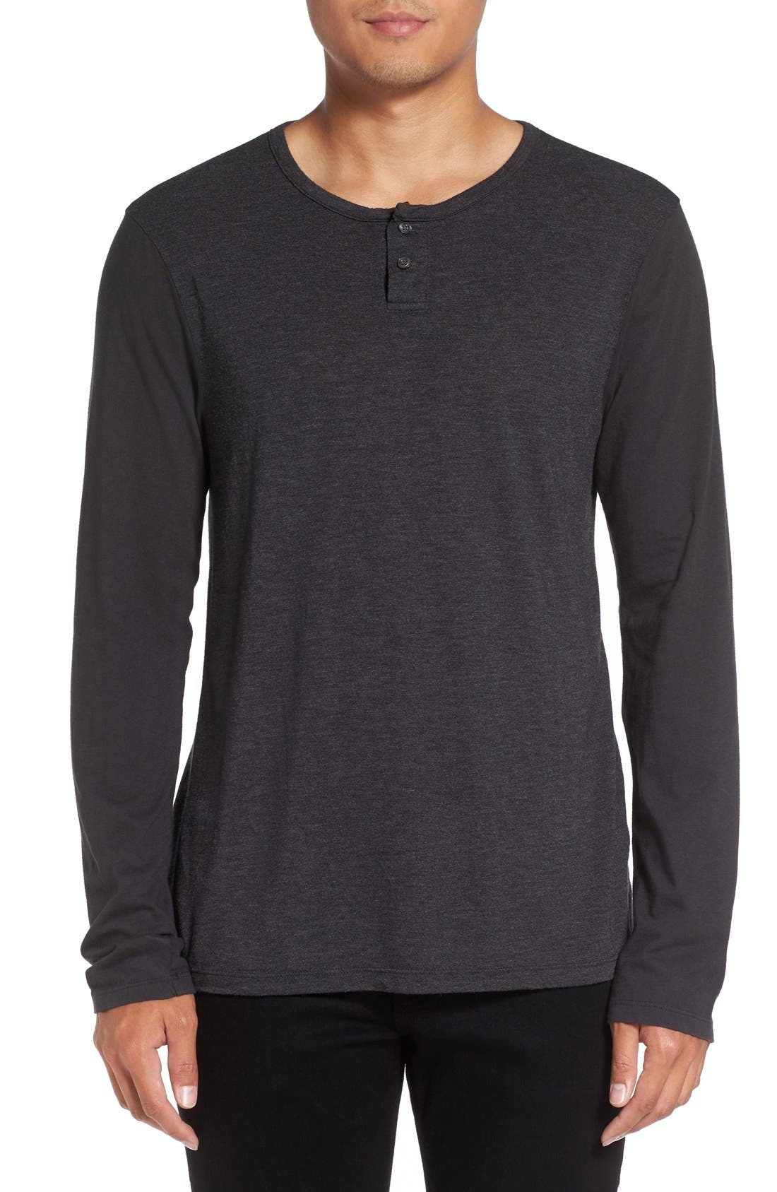 Knit Henley,                         Main,                         color, 028