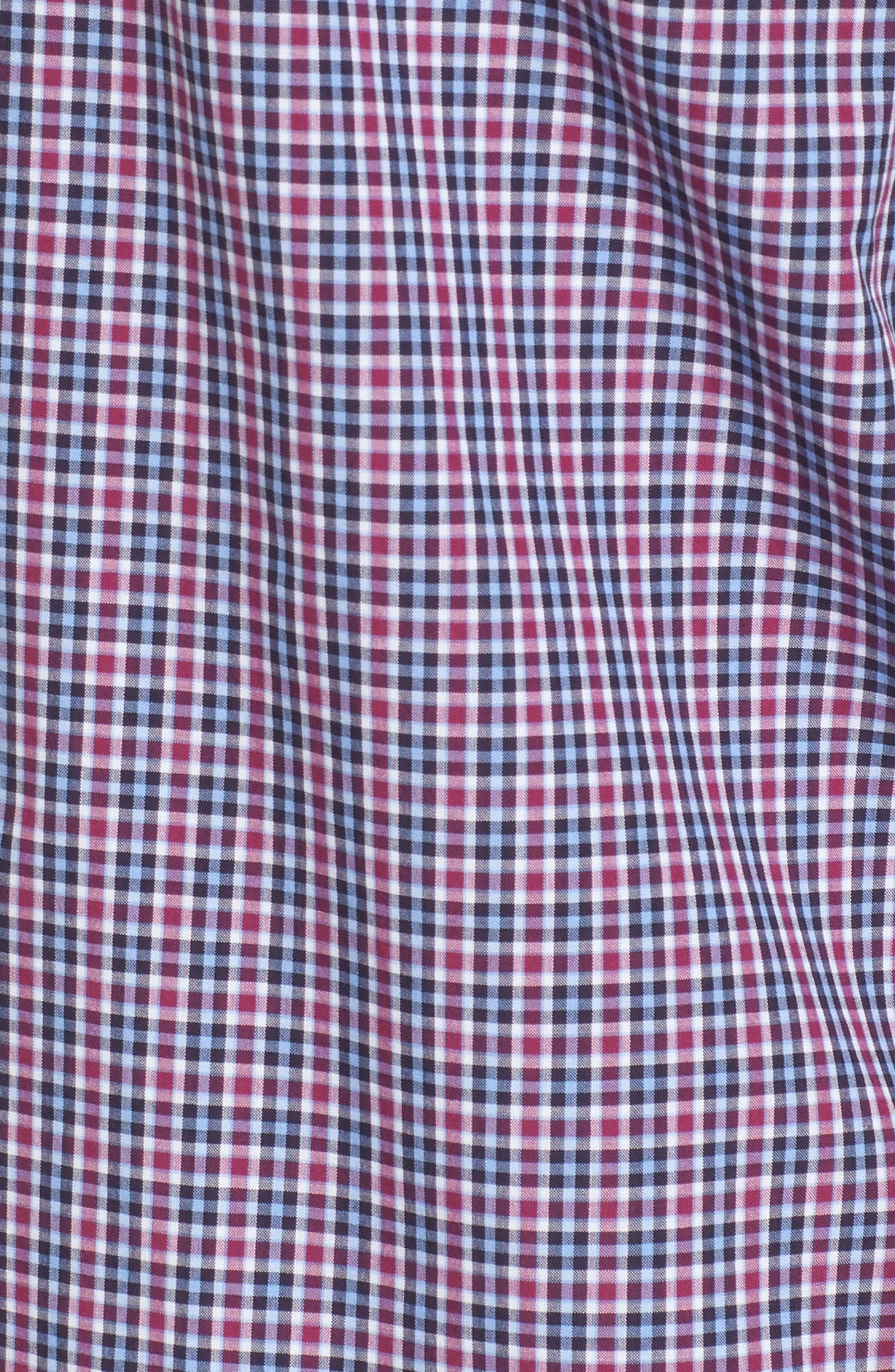 Comfort Fit Plaid Sport Shirt,                             Alternate thumbnail 5, color,                             514