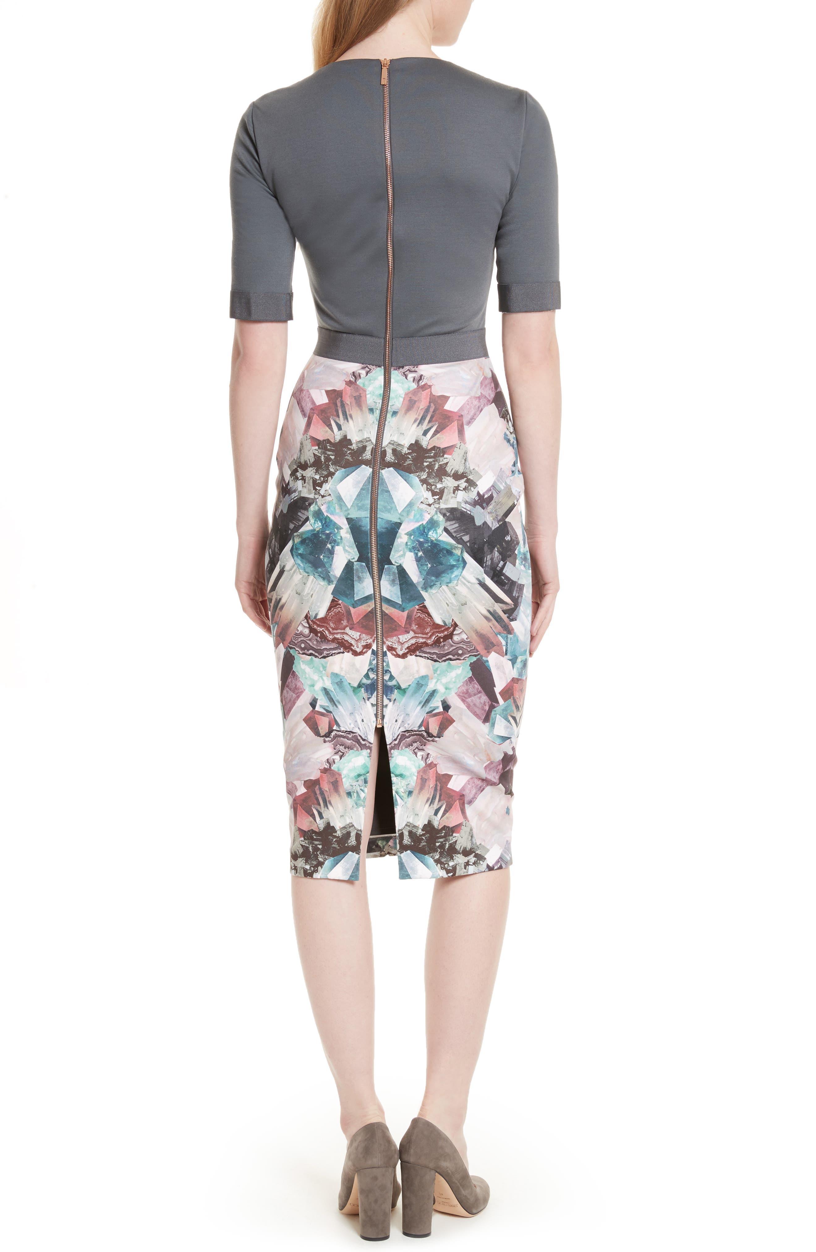 Anaste Mirror Minerals Print Dress,                             Alternate thumbnail 2, color,                             021